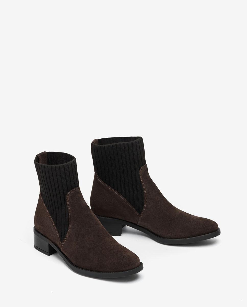 UNISA Sock-Boots aus Wildleder ELLEN_F20_BS rhino 5