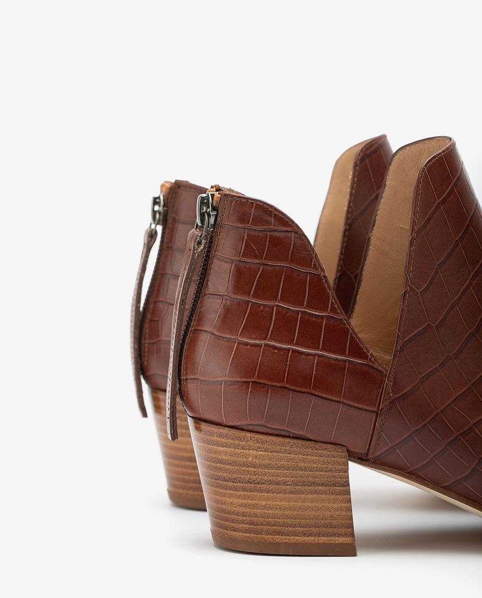 UNISA Ankle-Boots in Kroko-Optik mit seitlichen Ausschnitten GALEON_F20_LAU wonka 5