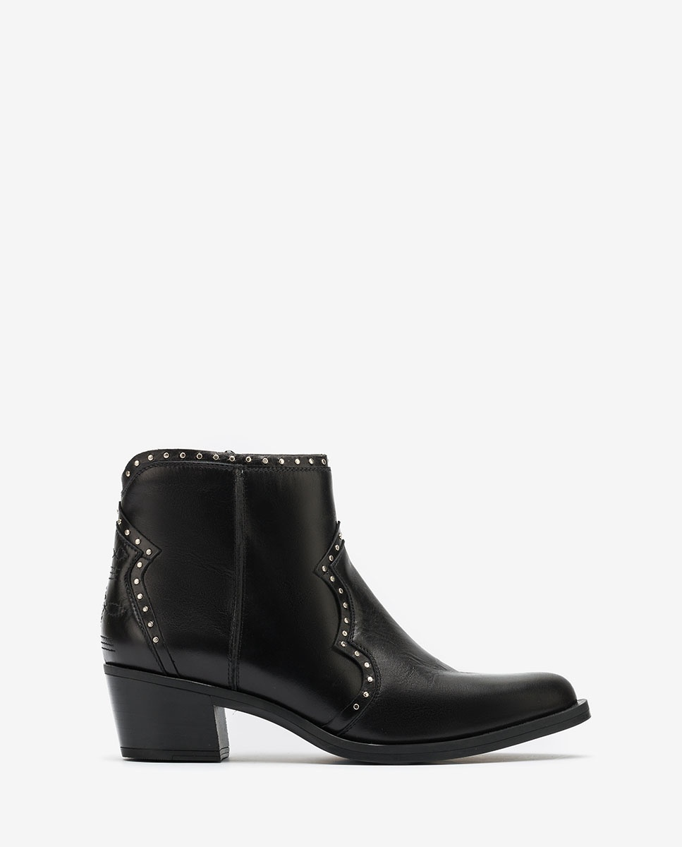UNISA Schwarze Cowboy-Boots mit Nieten GINETA_NE black 5