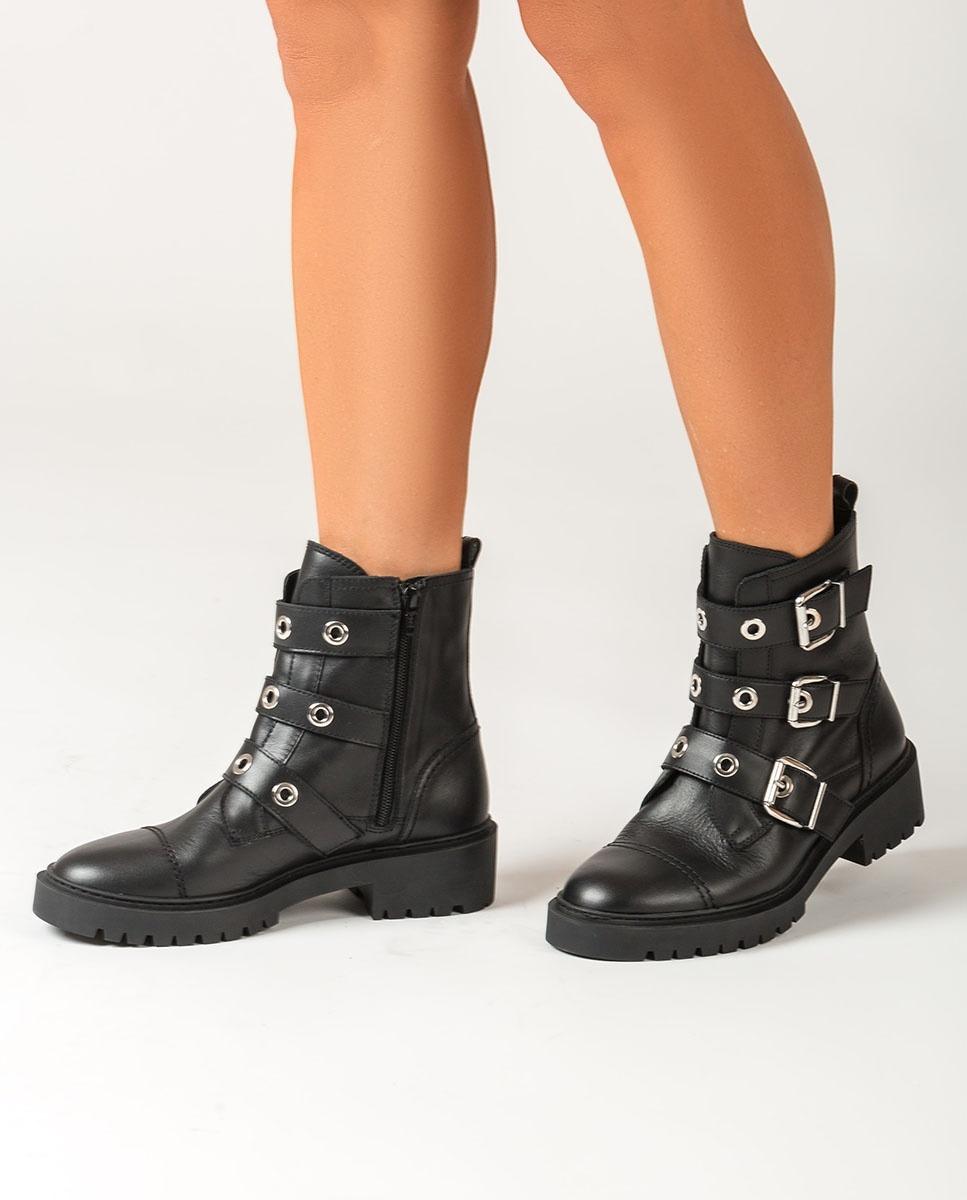 UNISA Schwarze Biker-Stiefel mit Sporen GUISA_NF black 5