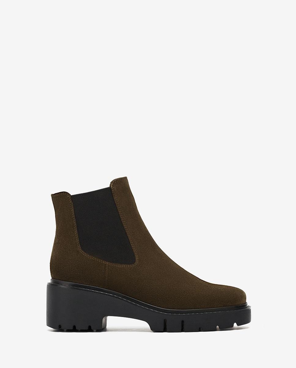 UNISA Grüne Chelsea-Boots mit Trekkingsohle JEROME_BS hunter 5