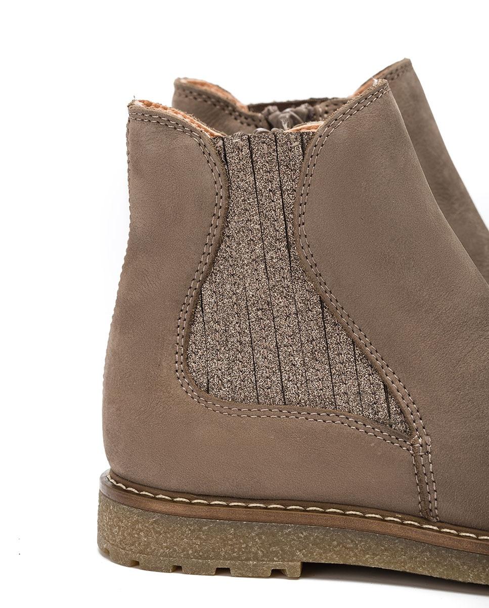 UNISA Granatapfelfarbener elastischer Mädchen Stiefel NICKY_F20_BLU taupe_19 5