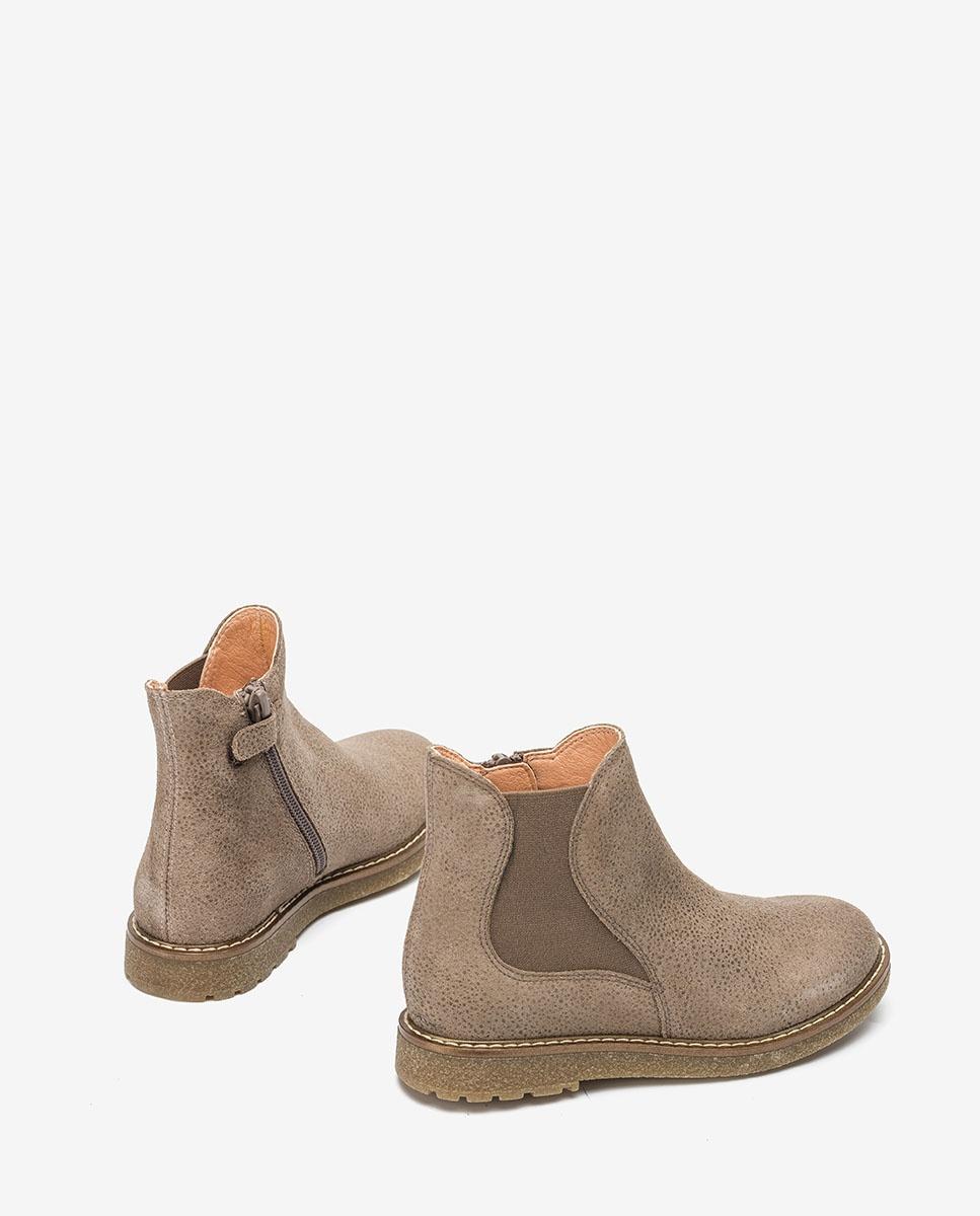 UNISA Graue glänzende Stiefel für kleine Mädchen NICKY_F20_VIA taupe 5