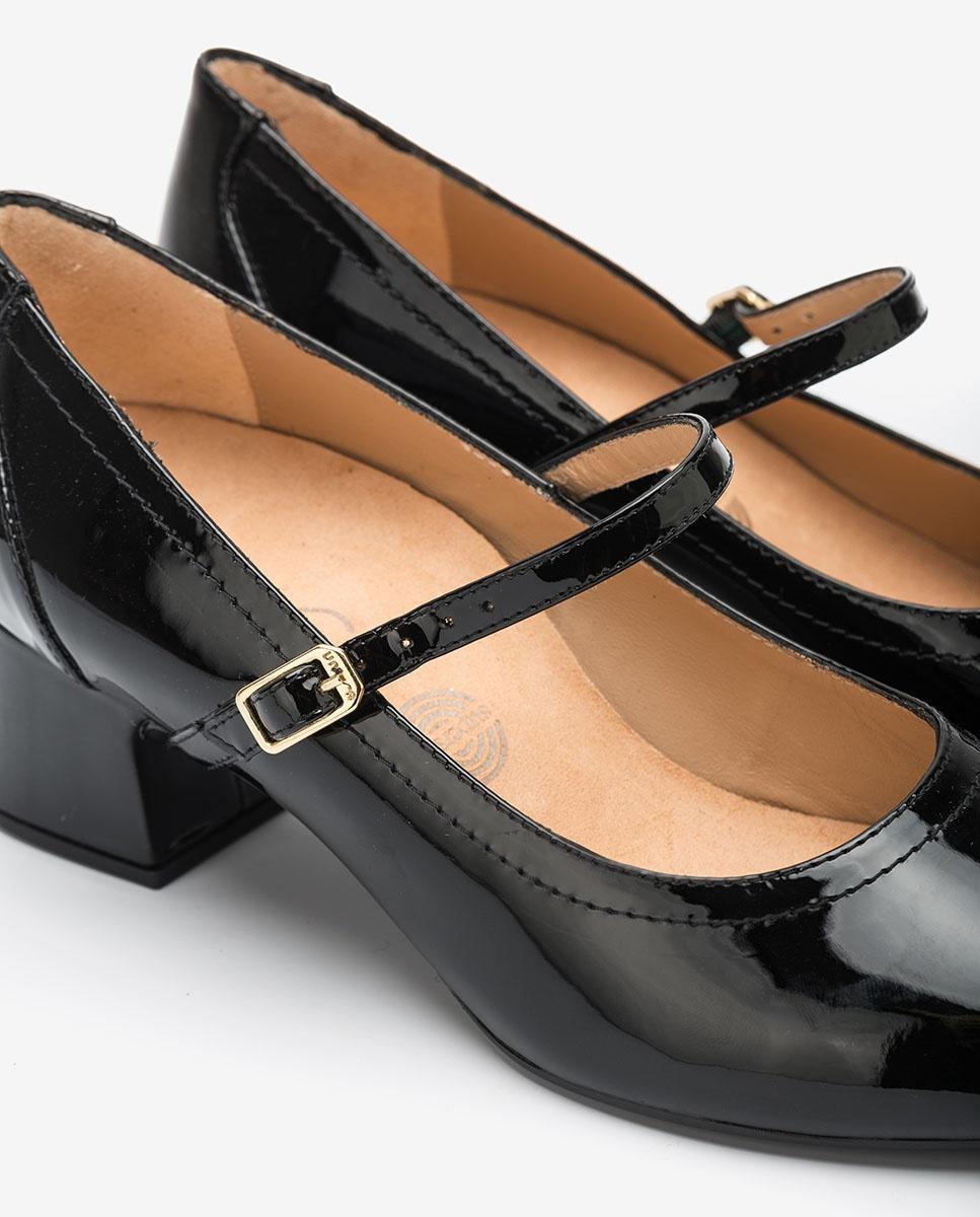 UNISA Schwarze Mary Janes aus Lackleder LEAN_PA black 5
