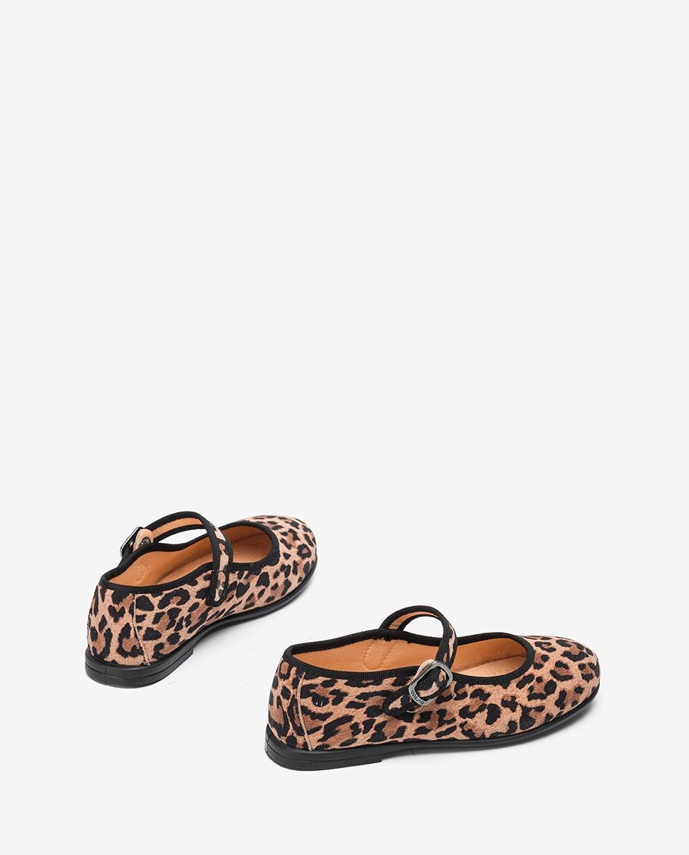 UNISA Rosa Leoparden Mary Janes für Mädchen  SEYLA_F20_SLEO roxe 5