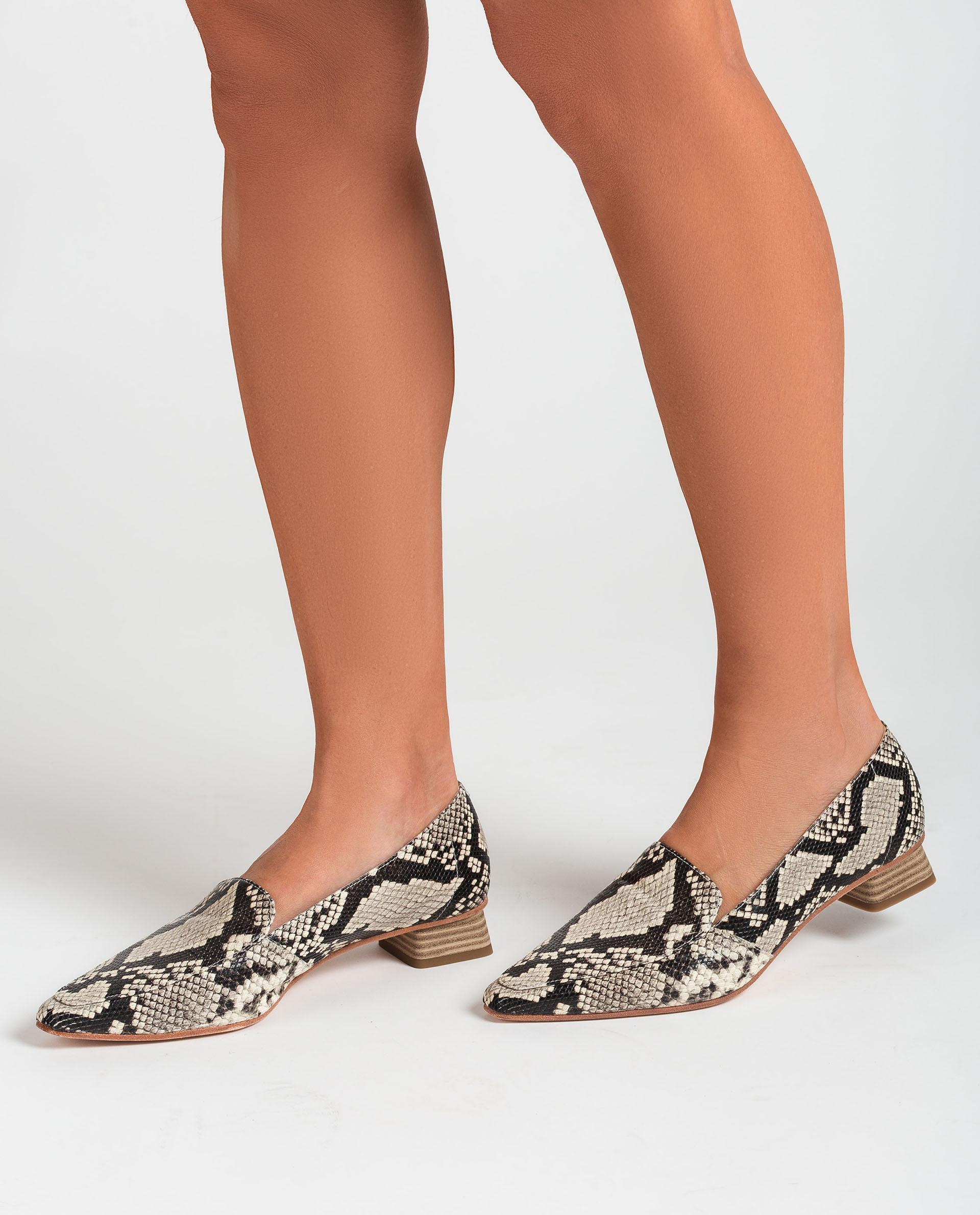 UNISA Ledermokassins aus Leder mit Snake-Print und Textilfutter GEGAL_VIP 5