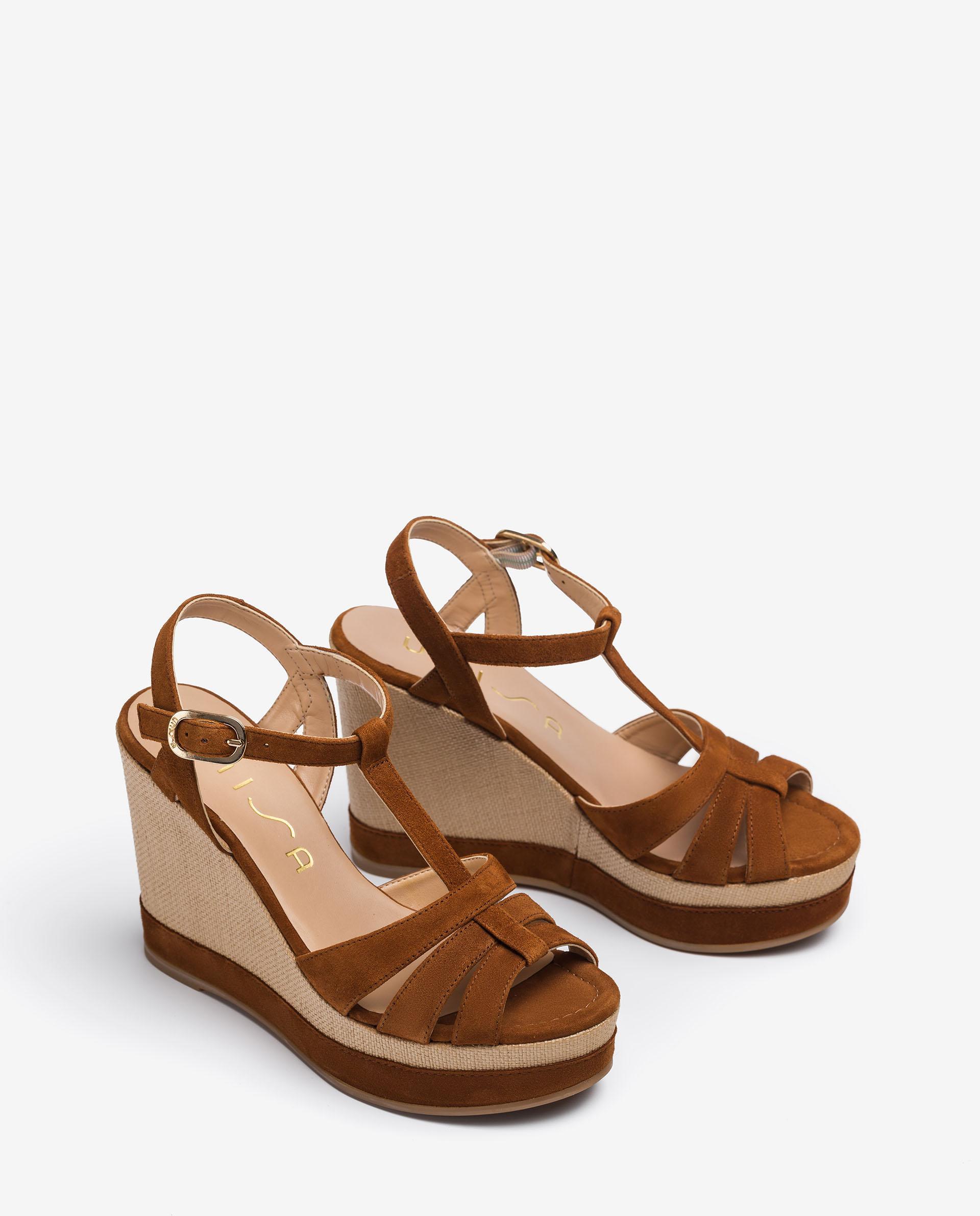 UNISA T-Strap-Sandalen aus Wildleder MANACOR_KS 5