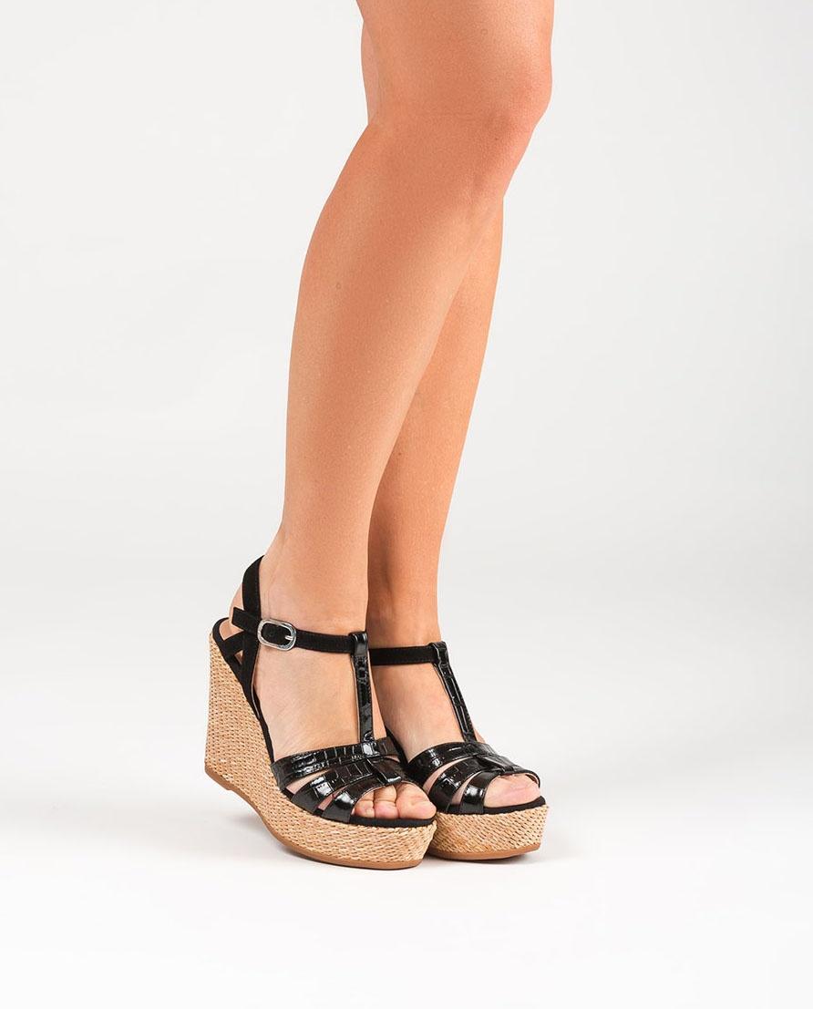 UNISA Sandaletten mit kontrastierenden Bändern MOLINO_CRW_KS black 5