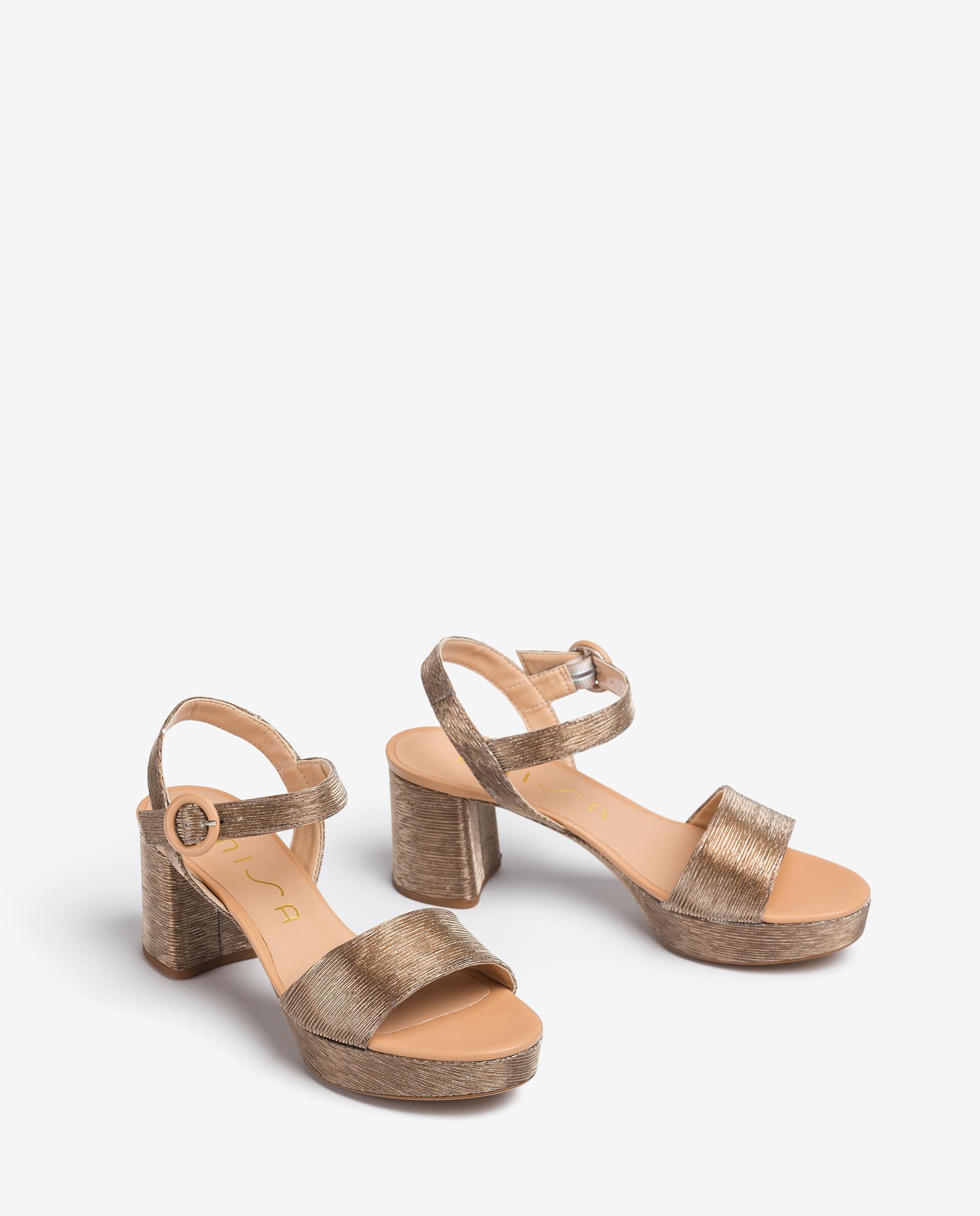 UNISA Sandalen aus glänzendem Stoff. NENES_21_RAD_NA 5