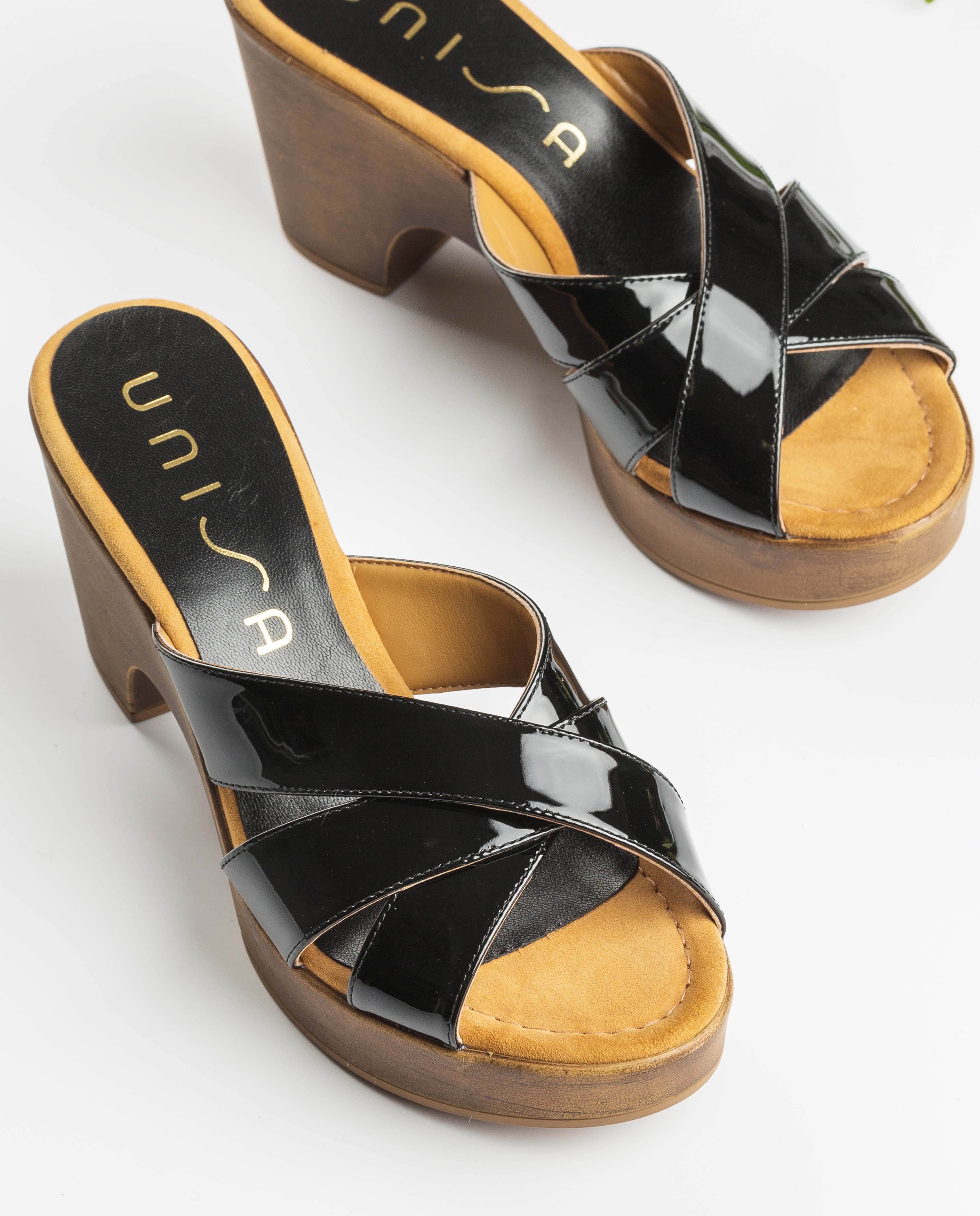UNISA Clogs aus Lackleder OCHOA_PA black 5