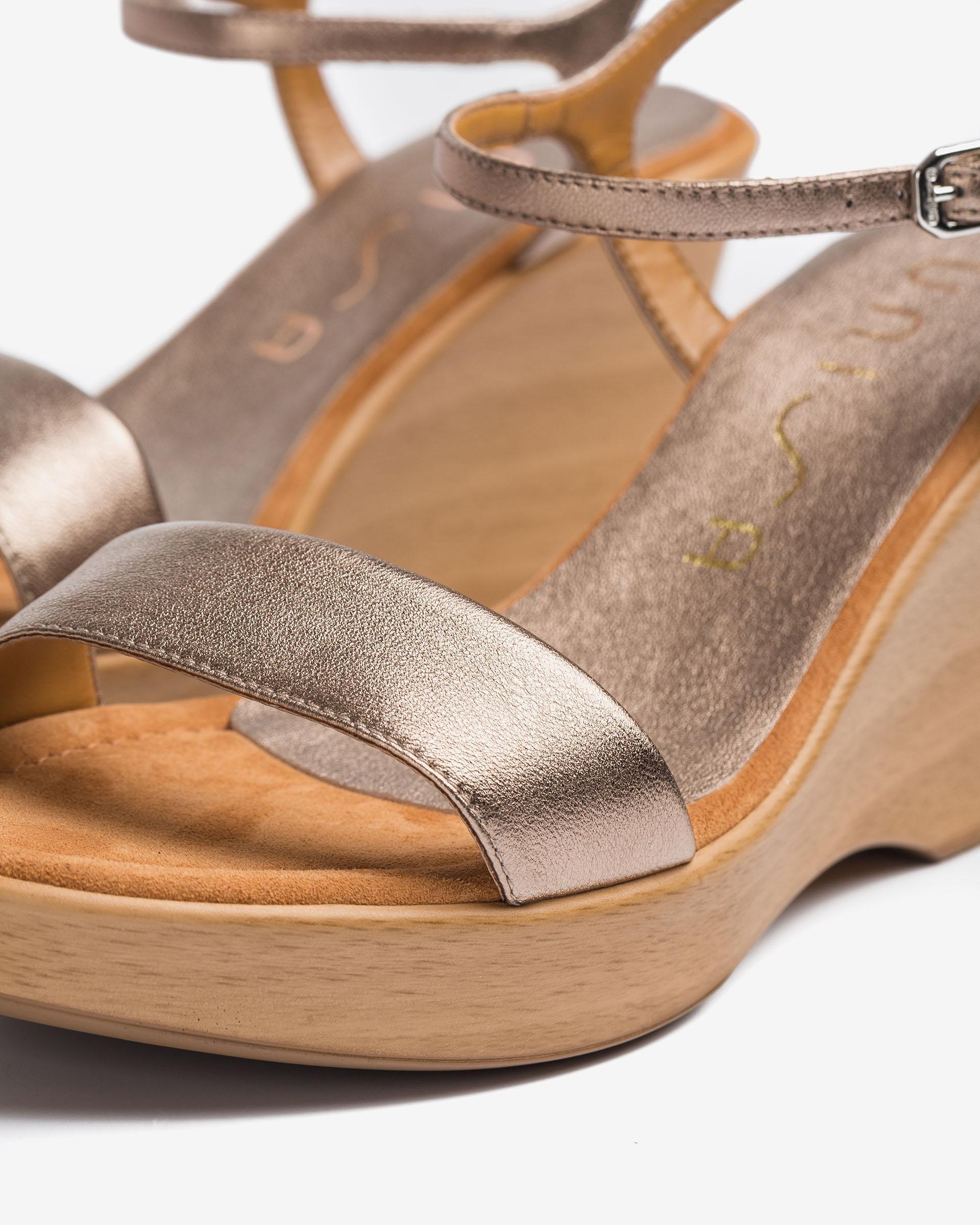 UNISA Sandalen aus Leder mit Metallic-Effekt RITA_21_LMT 5