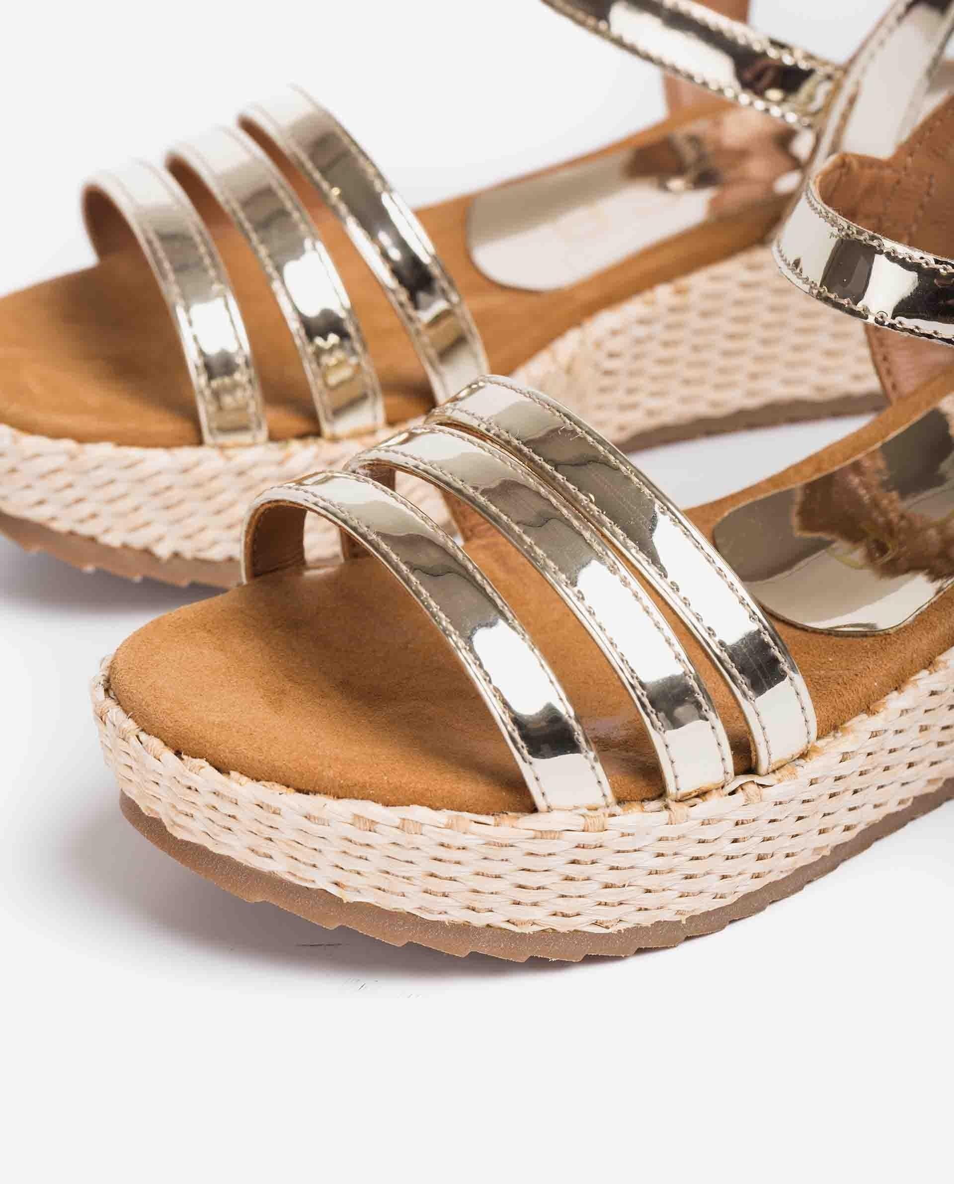 UNISA Sandalen aus Leder mit Spiegel-Effekt für Mädchen TALENT_R_21_SP 5