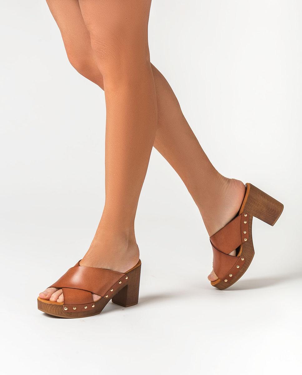 UNISA Pantoletten mit Blocksohle TAPIA_RAN bisquit 5