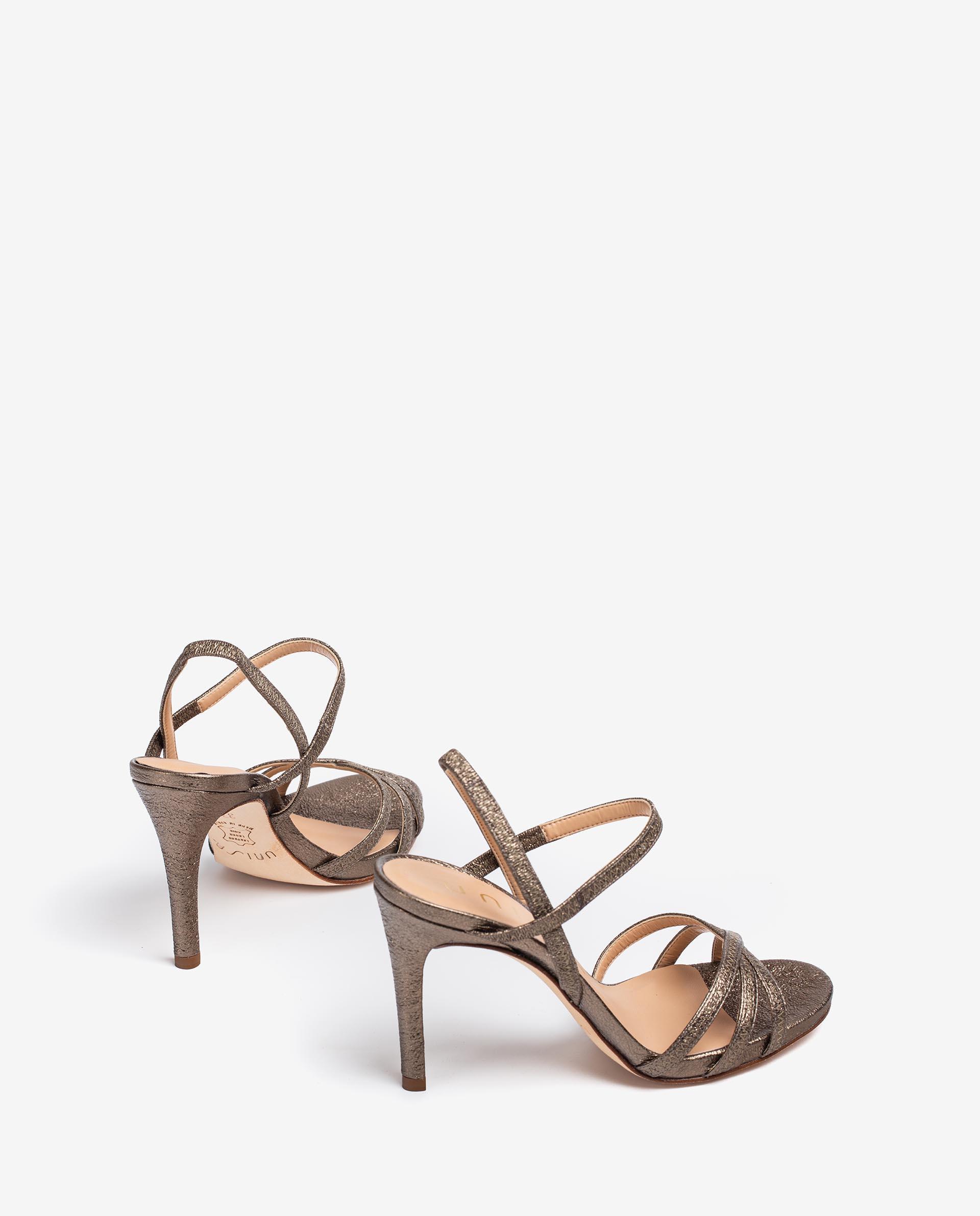 UNISA Sandaletten aus glänzendem Leder mit hohem Absatz YAMALI_SE 5