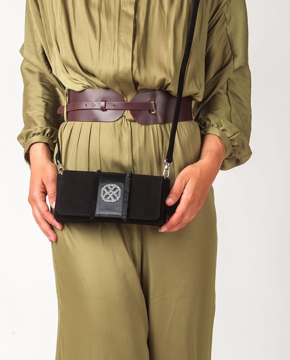 UNISA Handtasche mit Swarovski Monogramm ZDREAMER_KS black 5
