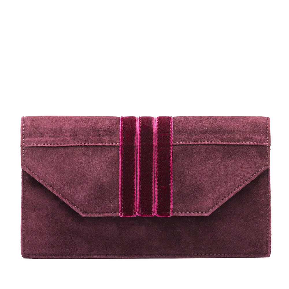 UNISA Bolso mano de ante ZBRETO_KS grape