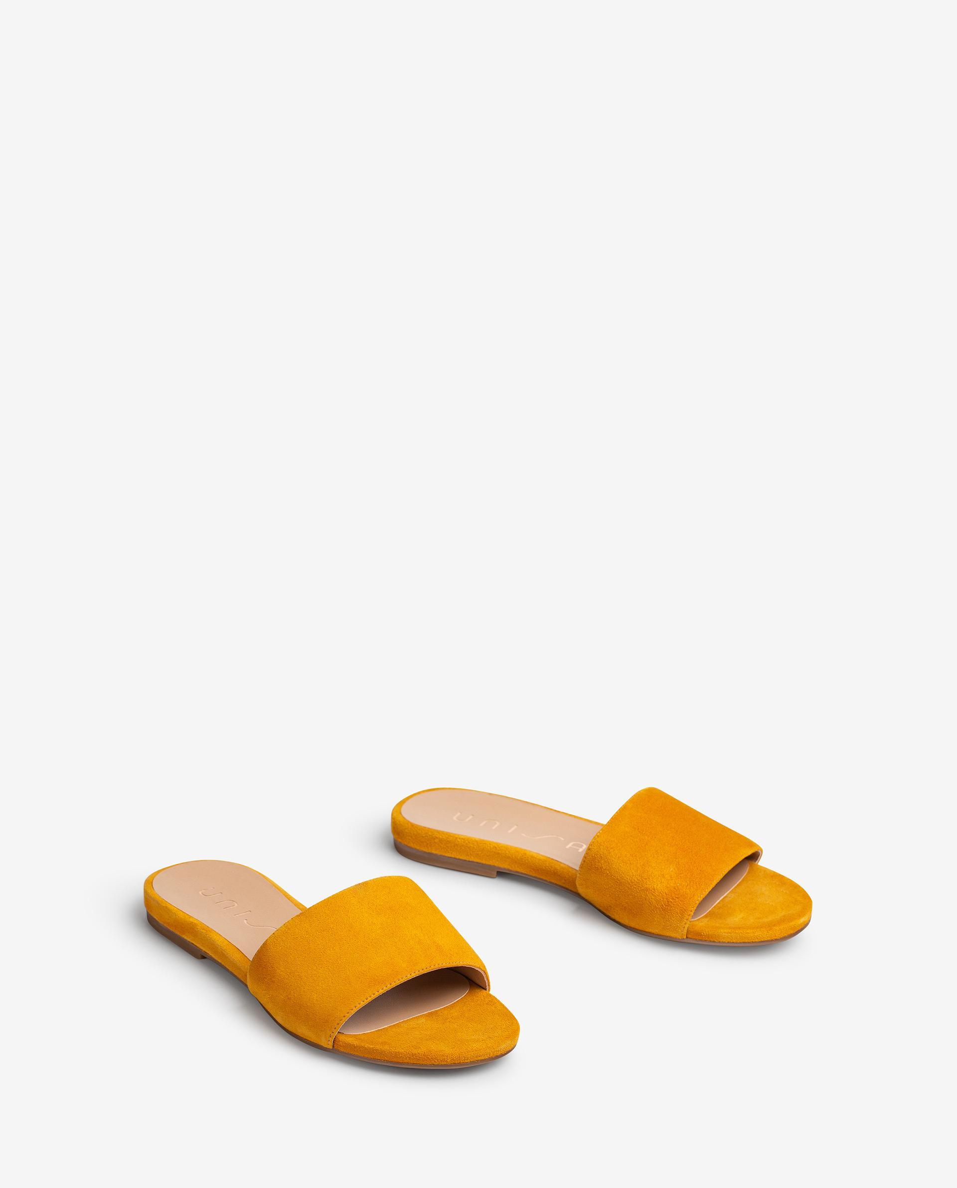 UNISA Sandalia plana tipo esclava fabricada en piel ante CADIARSIN_KS