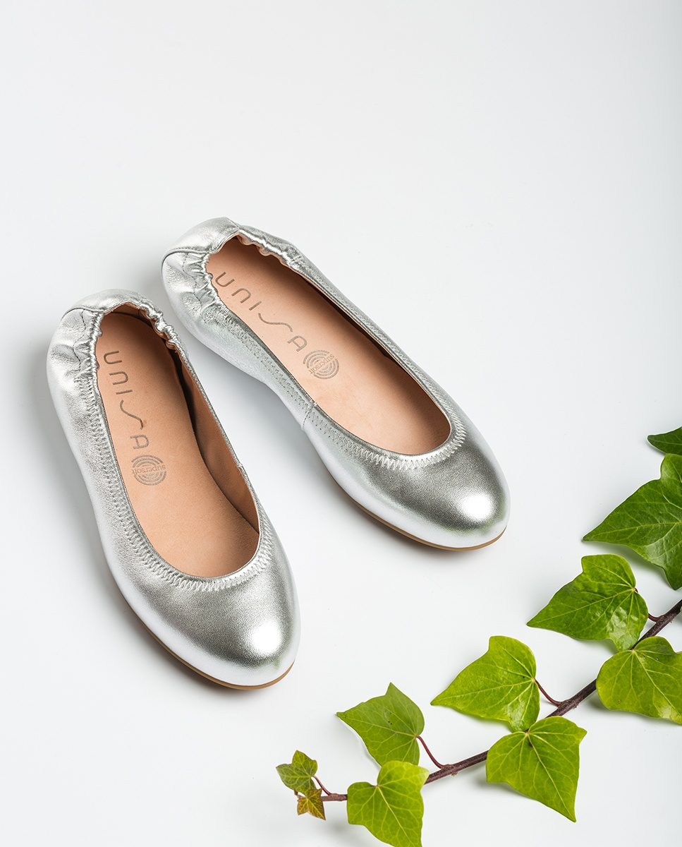 UNISA Silberne Ballerinas ALIMA_LMT silver 5