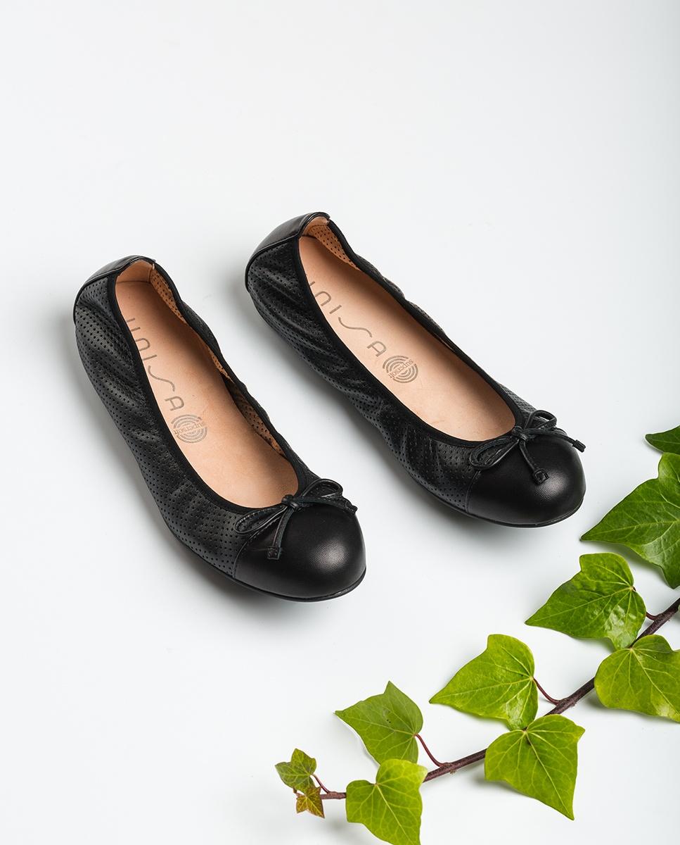 UNISA Ballerinas aus gestanztem Leder ARMAS_NS black 5