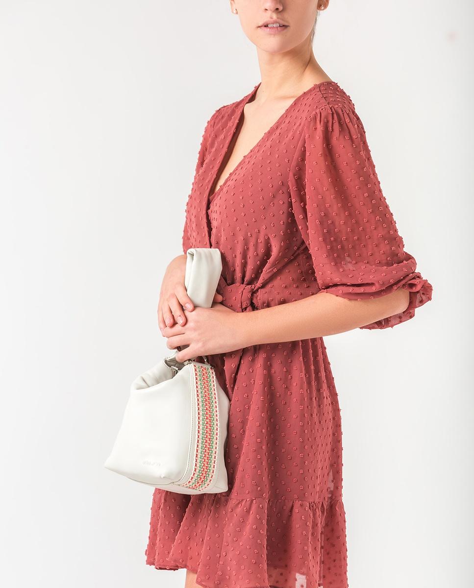 UNISA Knot Bag aus Leder ZLOFTY_MM ivory 5