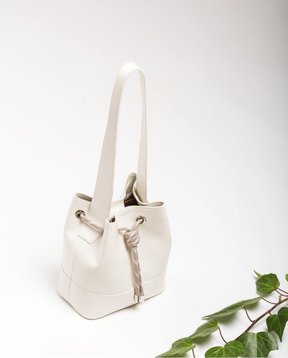 UNISA Bucket Bag aus Leder ZMALIKA_MM ivory 5