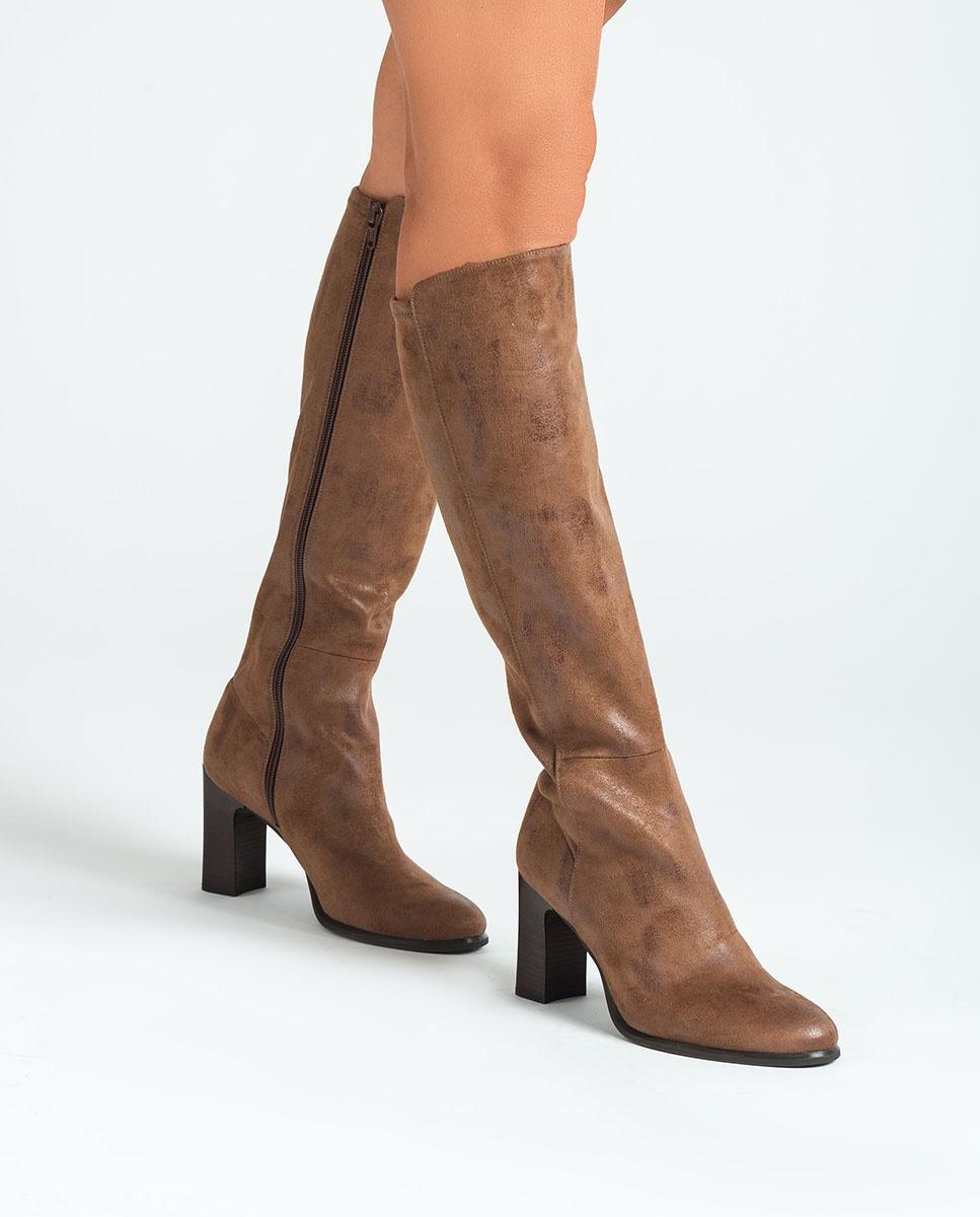 UNISA Elastische Stiefel mit Absatz UNITE_STG cumin 5