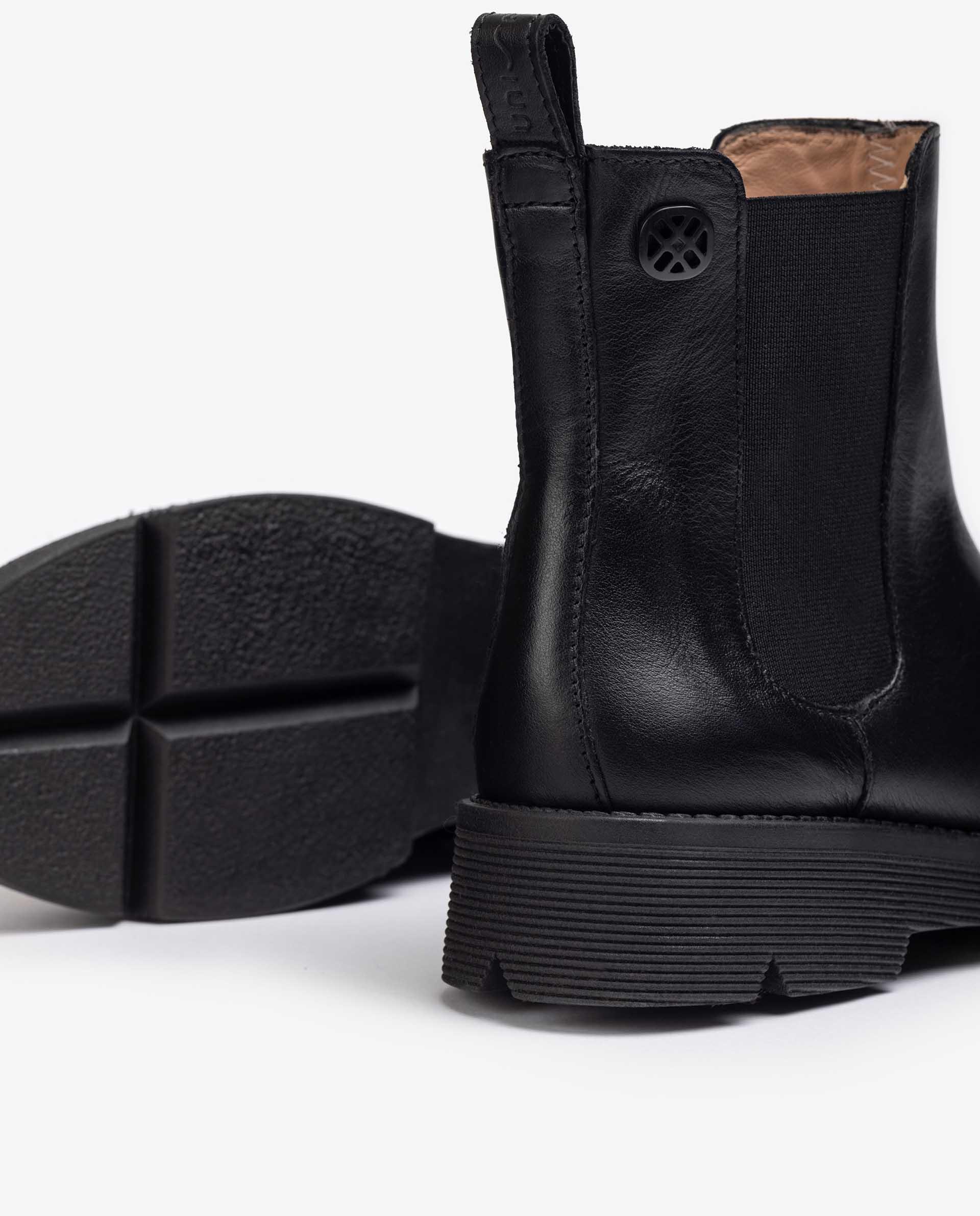 UNISA Chelsea-Boots aus Leder mit Metallverzierung PIA_NF 5