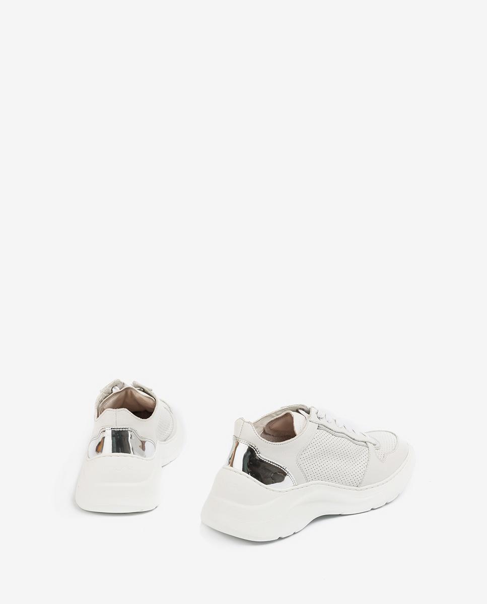 UNISA Leder-Sneaker mit voluminöser Sohle ESTAN_NF ivory 5