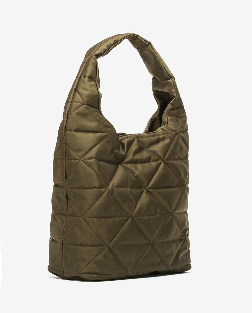 UNISA Hobo-Bag aus Nylongewebe ZISQUILT_BUS hunter 5
