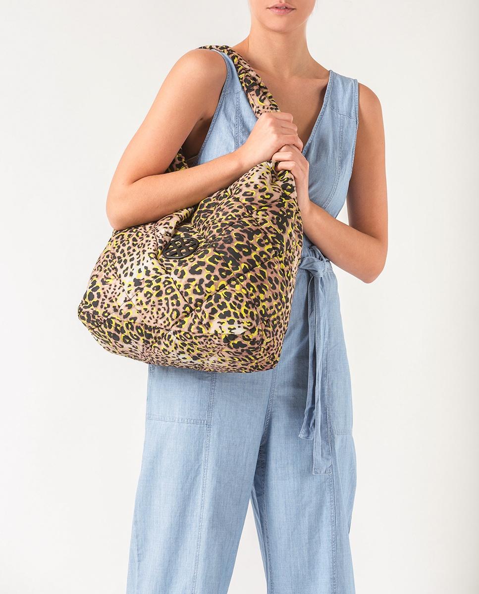 UNISA Hobo Bag aus neonfarbigem Stoff ZWIND_ACL lime 5