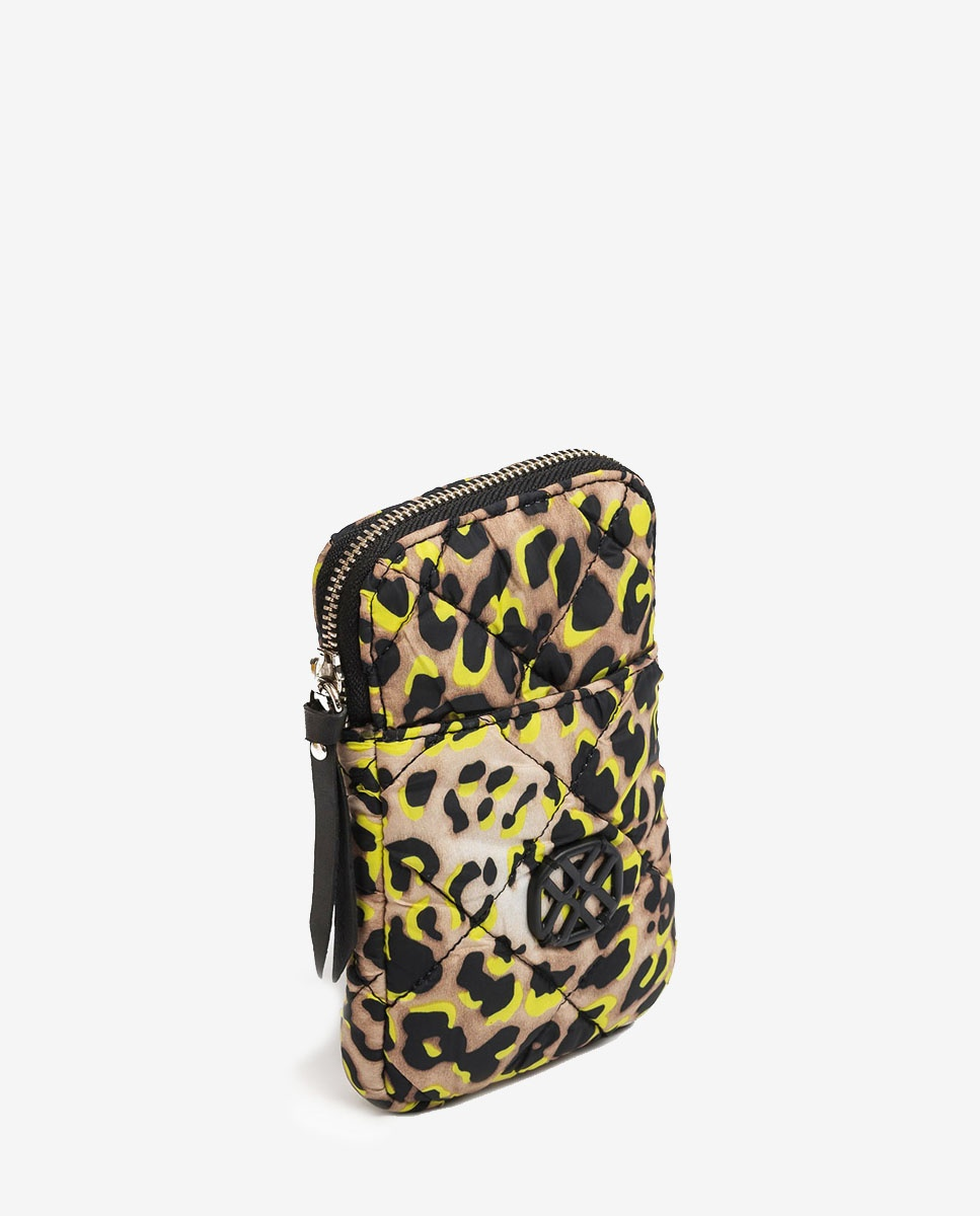 UNISA Mini-Umhängetasche aus neonfarbigem Stoff ZALANIS_ACL lime 5