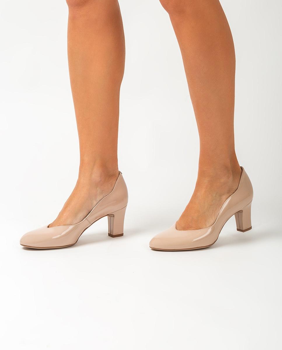UNISA Nudefarbene Lacklederpumps mit mittelhohem Absatz MORAN_PA nude 5