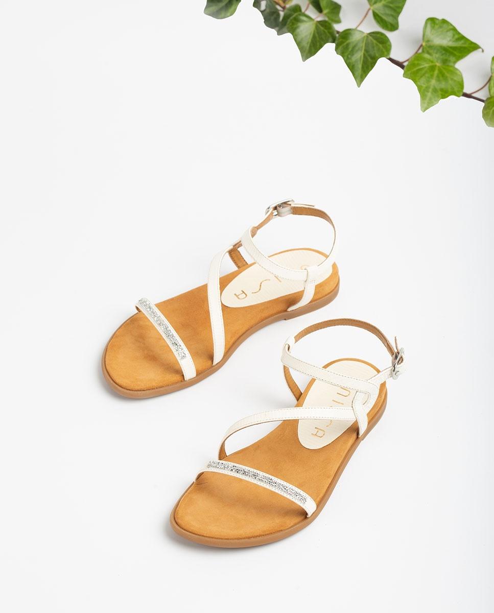 UNISA Sandalen mit Swarovski-Steinen CLARIS_LI  ivory 5