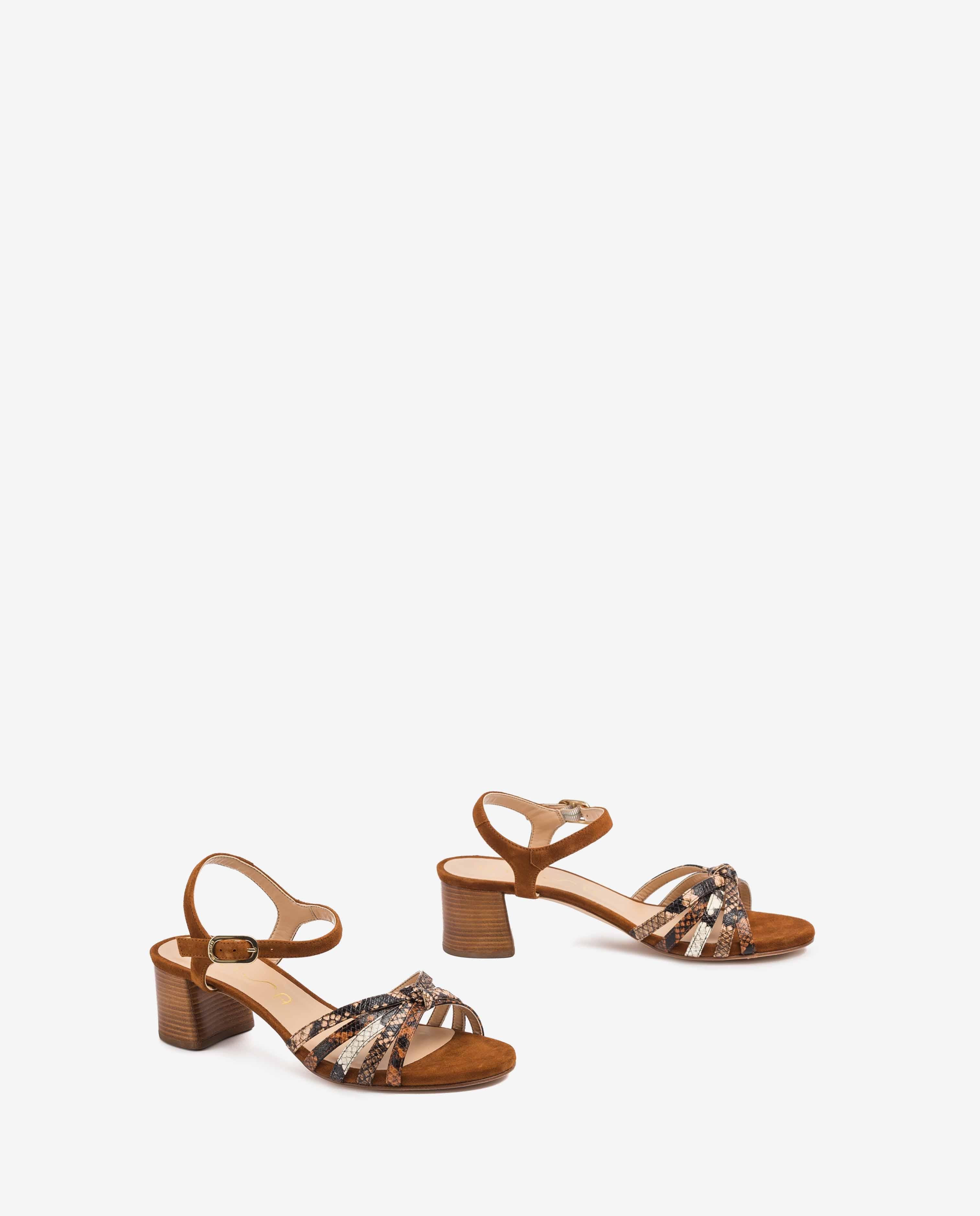 UNISA Sandaletten mit kontrastierenden Riemen in Snake-Print GRATA_VIP_KS tek/sun/na 5