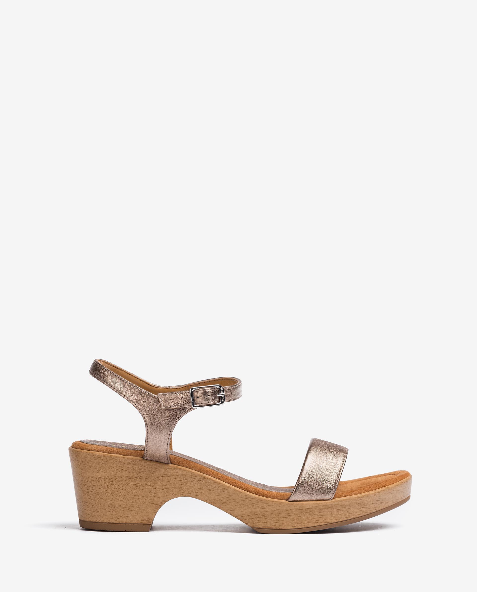 UNISA Sandalen mit Metallic-Effekt mit Blockabsatz IRITA_21_LMT 5