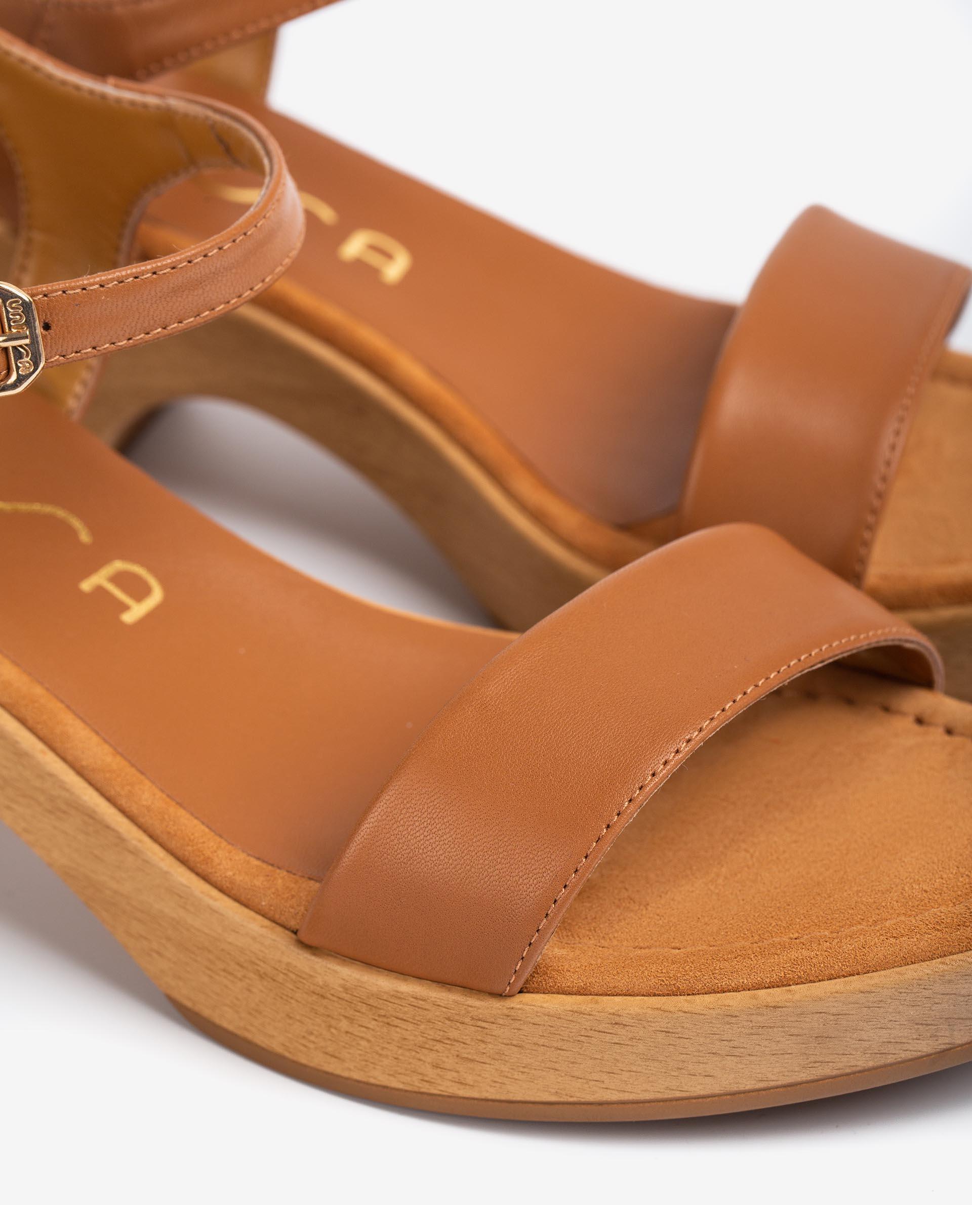 UNISA Sandalen aus Leder mit Blockabsatz IRITA_21_NA 5