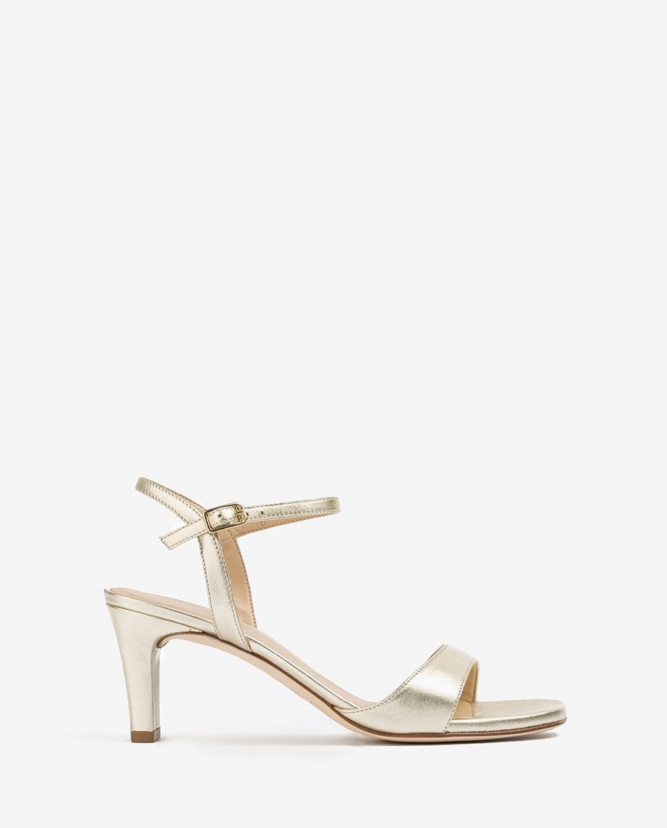 UNISA Hellgoldene Sandaletten mit mittelhohem Absatz MECHI_LMT platino 5