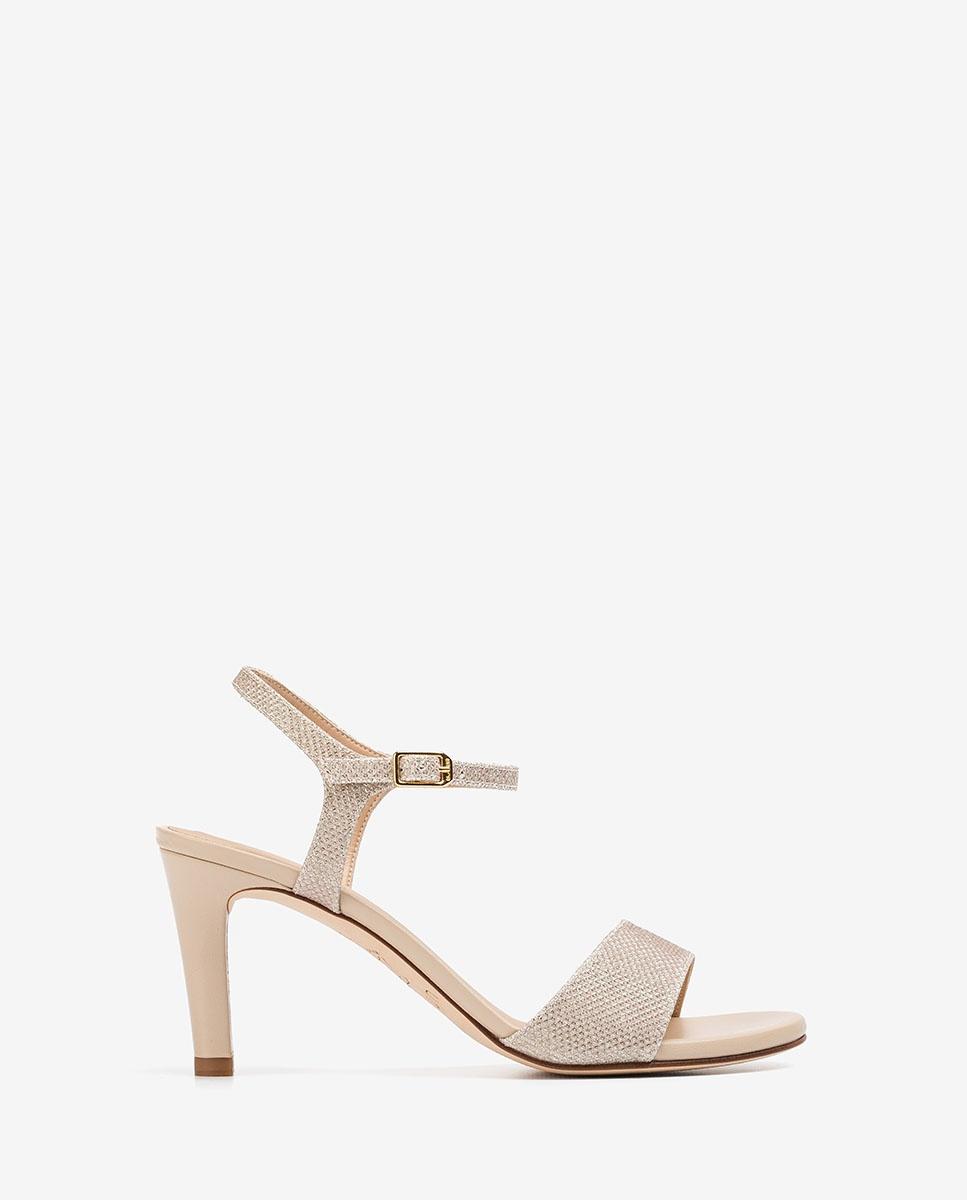 UNISA Glänzende Sandaletten mit Absatz OBANO_EV_NA platino 5