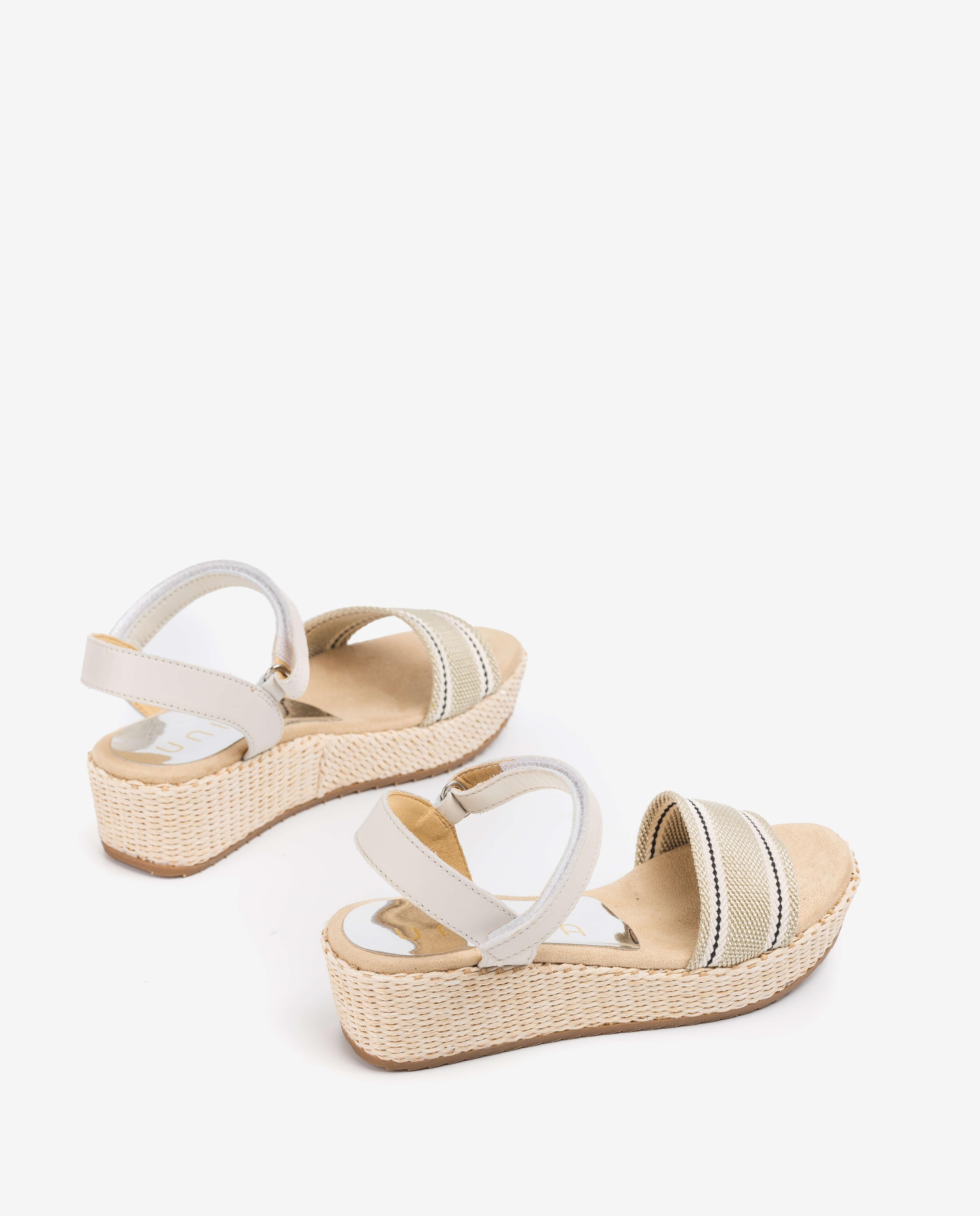 UNISA Sandalen mit geflochtenen Bändern TALOS_R_NF ivory 5