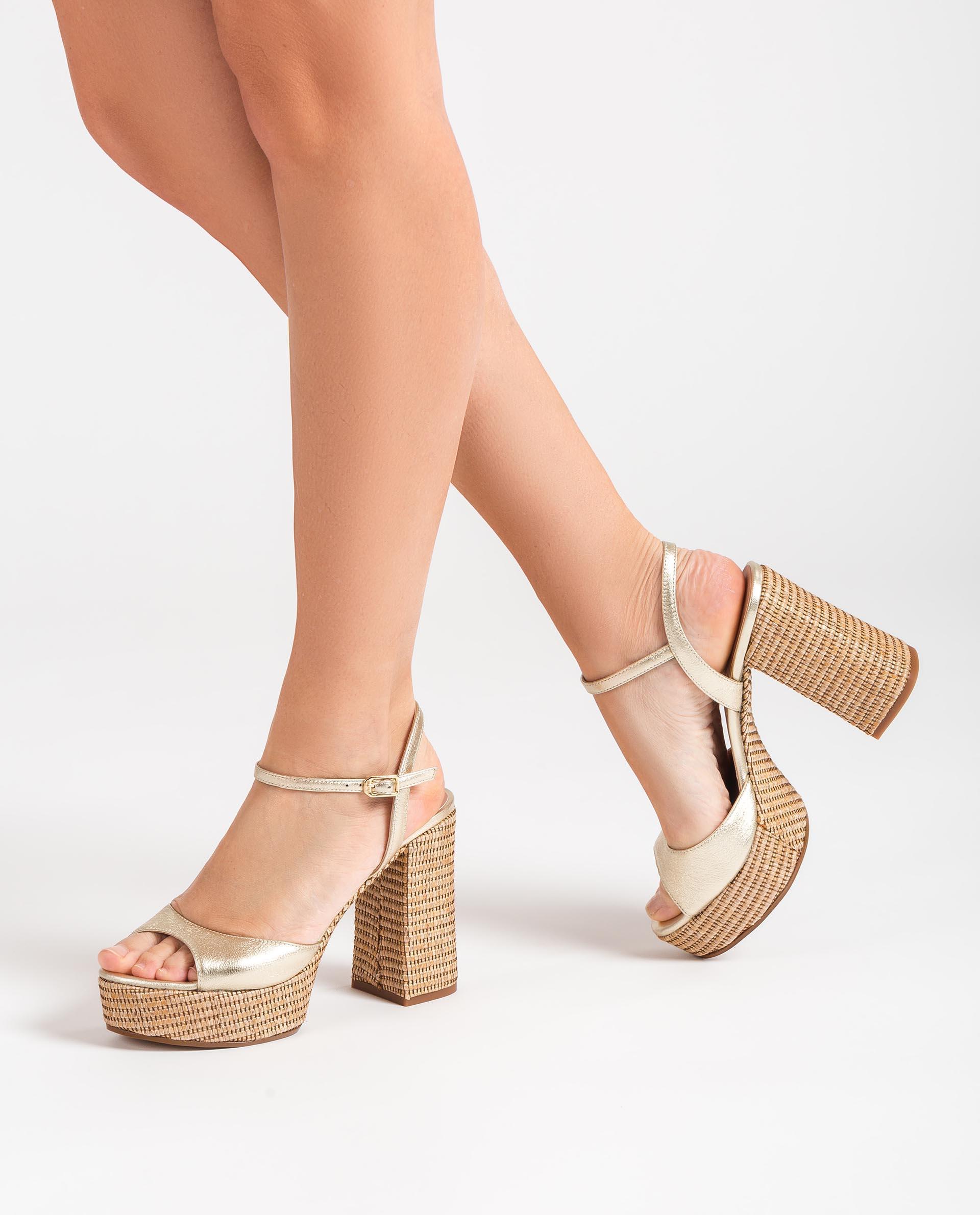 UNISA Sandalen im 70's-Style aus Leder und Bast VEGARA_21_LMT_RR 5