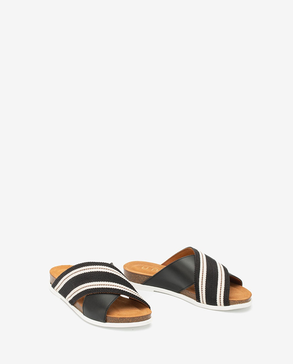 UNISA Ribbon contrast sandals CHIVAS_NF  black 2