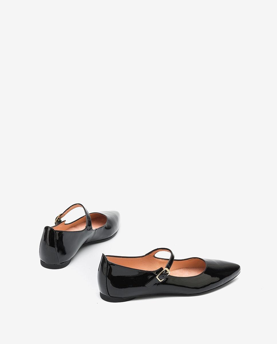 UNISA Flat patent leather Mary Jane Shoes ABAT_PA black 2