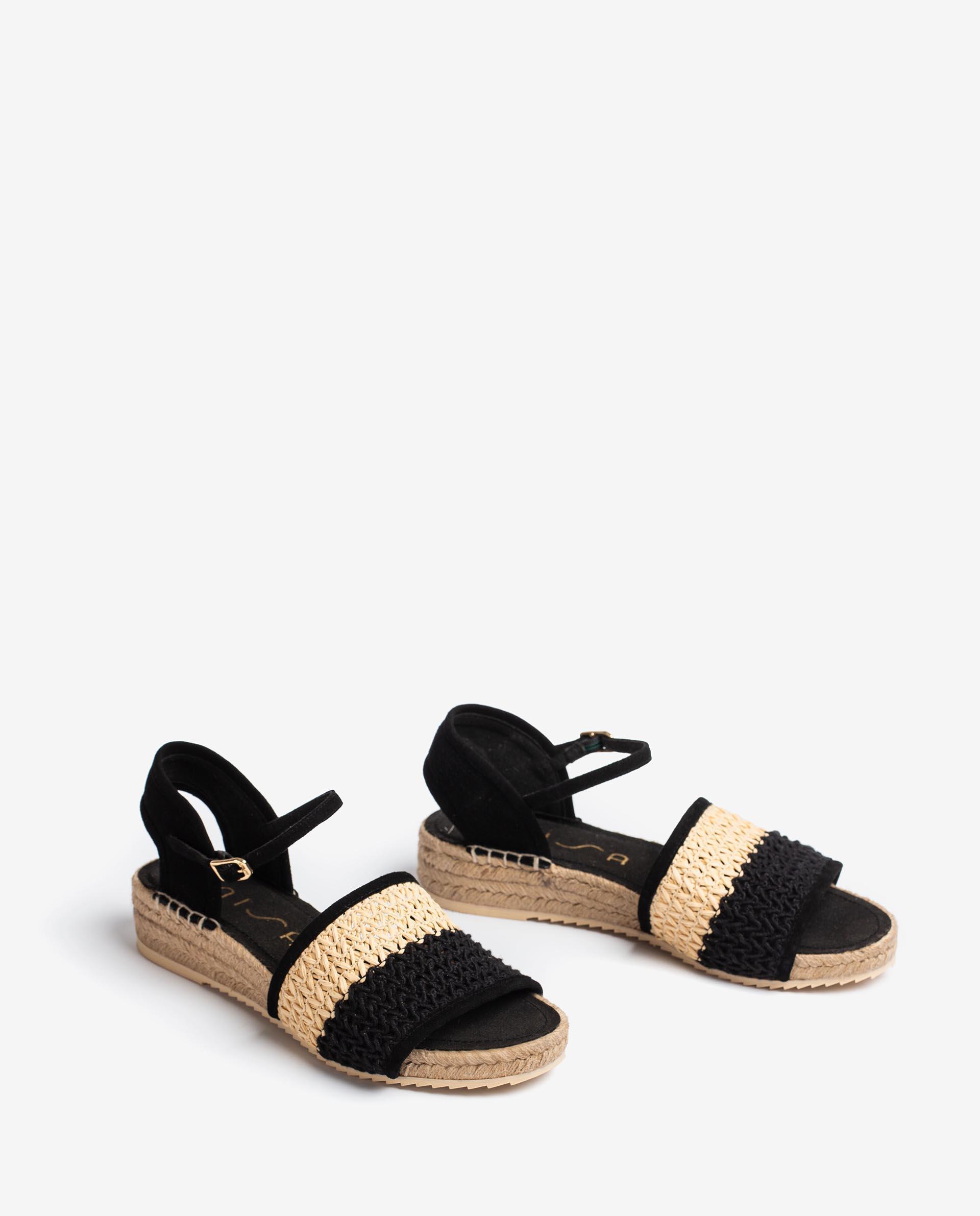 UNISA Kid suede braided sandals BARTOW_KS 2