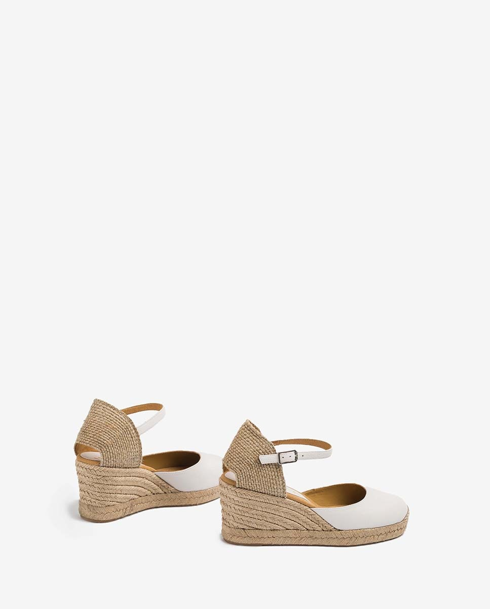 UNISA Leather and jute espadrilles CACERES_20_STY ivory 2
