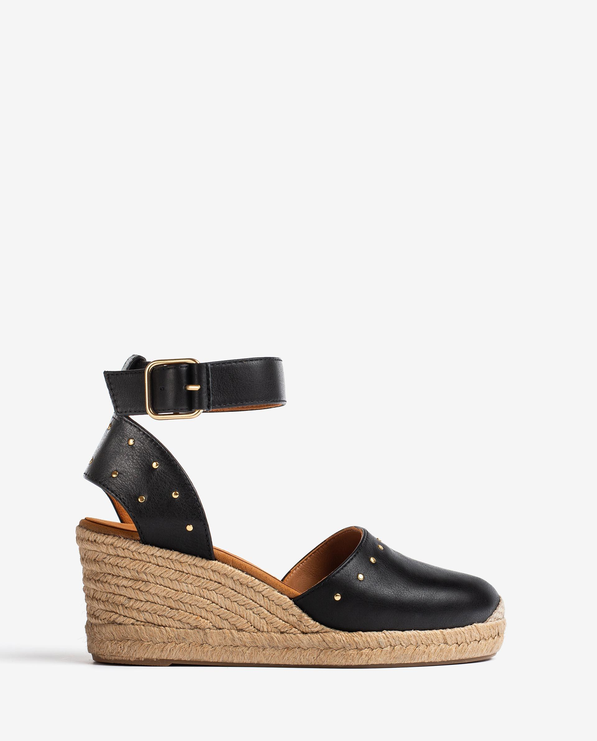 UNISA Leather espadrilles embellished with studs CLIVER_CRE 2