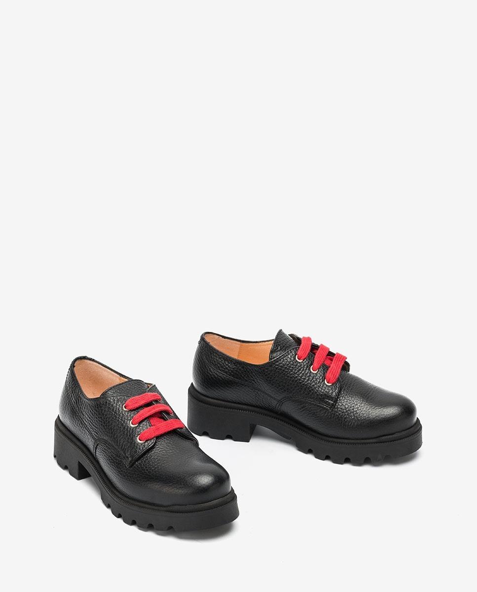 UNISA Little girl´s black bluchers with laces PUNE_F20_MM black 2