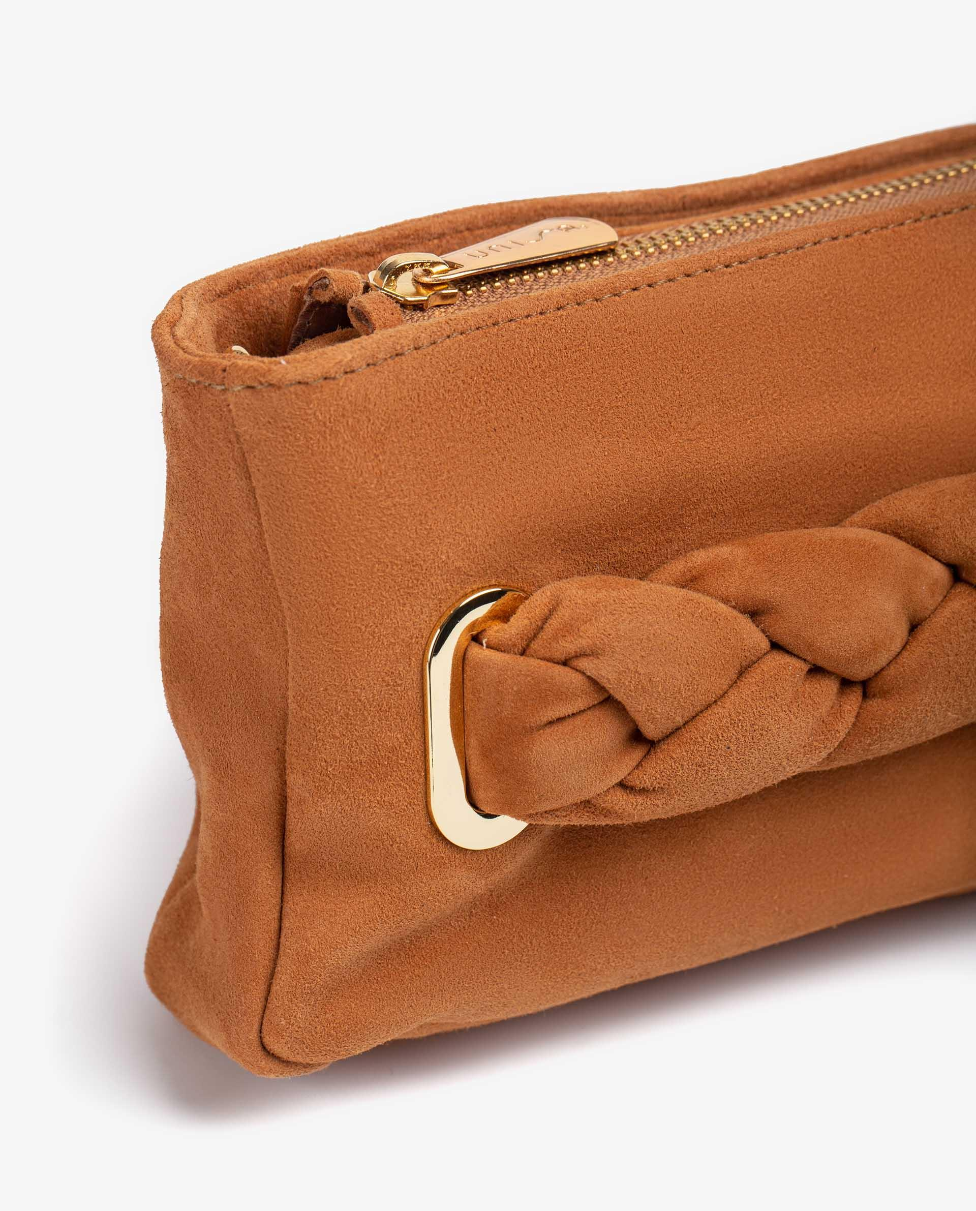 UNISA Kid suede bag with padded braided cord ZFORIS_KS 2