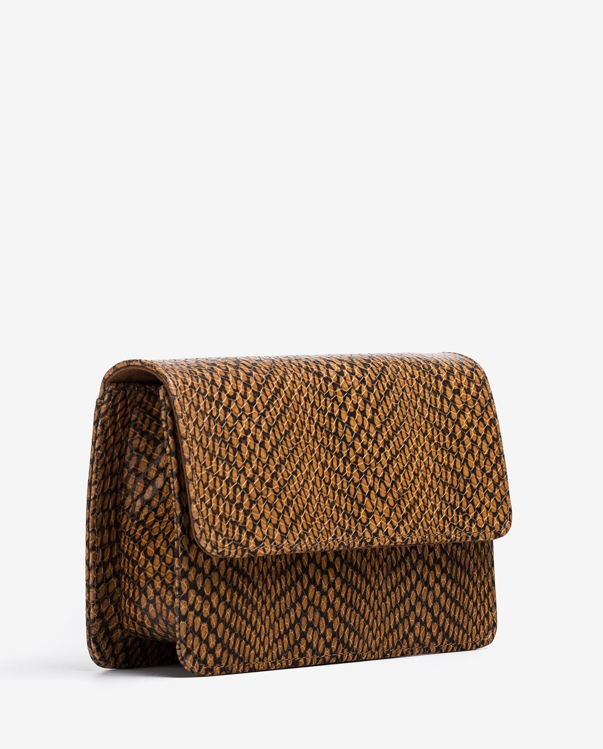 UNISA Snake effect leather handbag ZBELA_MA 2