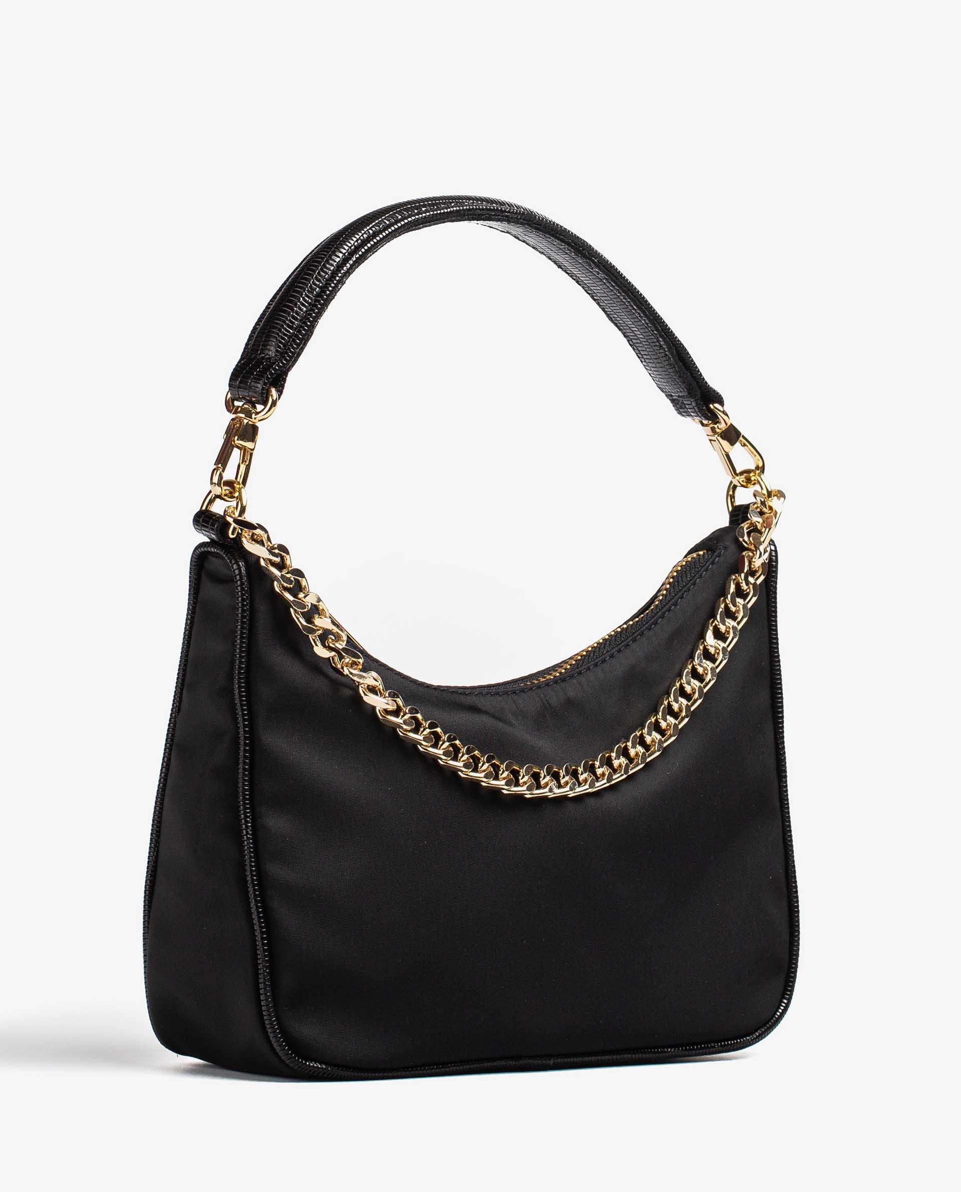 UNISA Nylon and croc effect leather contrast bag ZCLIO_BUS_BTJ 2