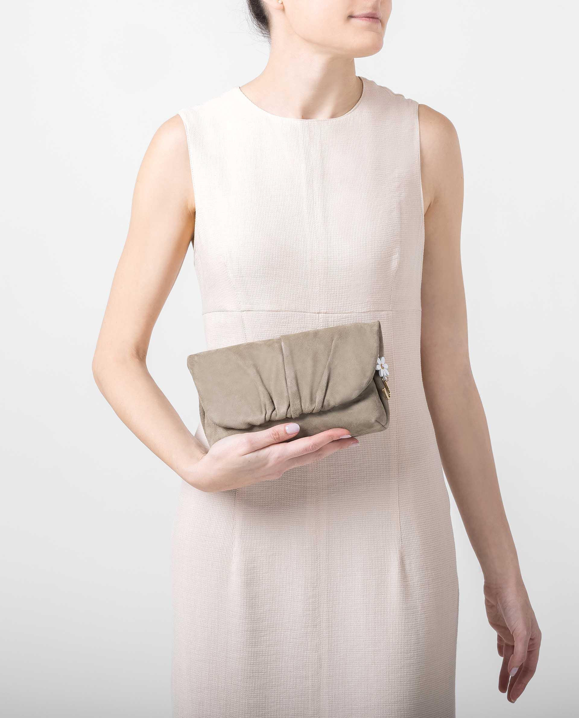 UNISA Small bag with detail of flower and